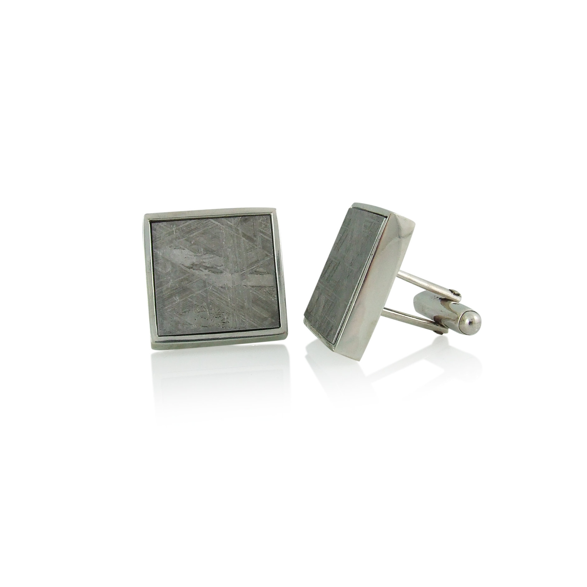 Sterling Silver and Meteroite Cufflinks