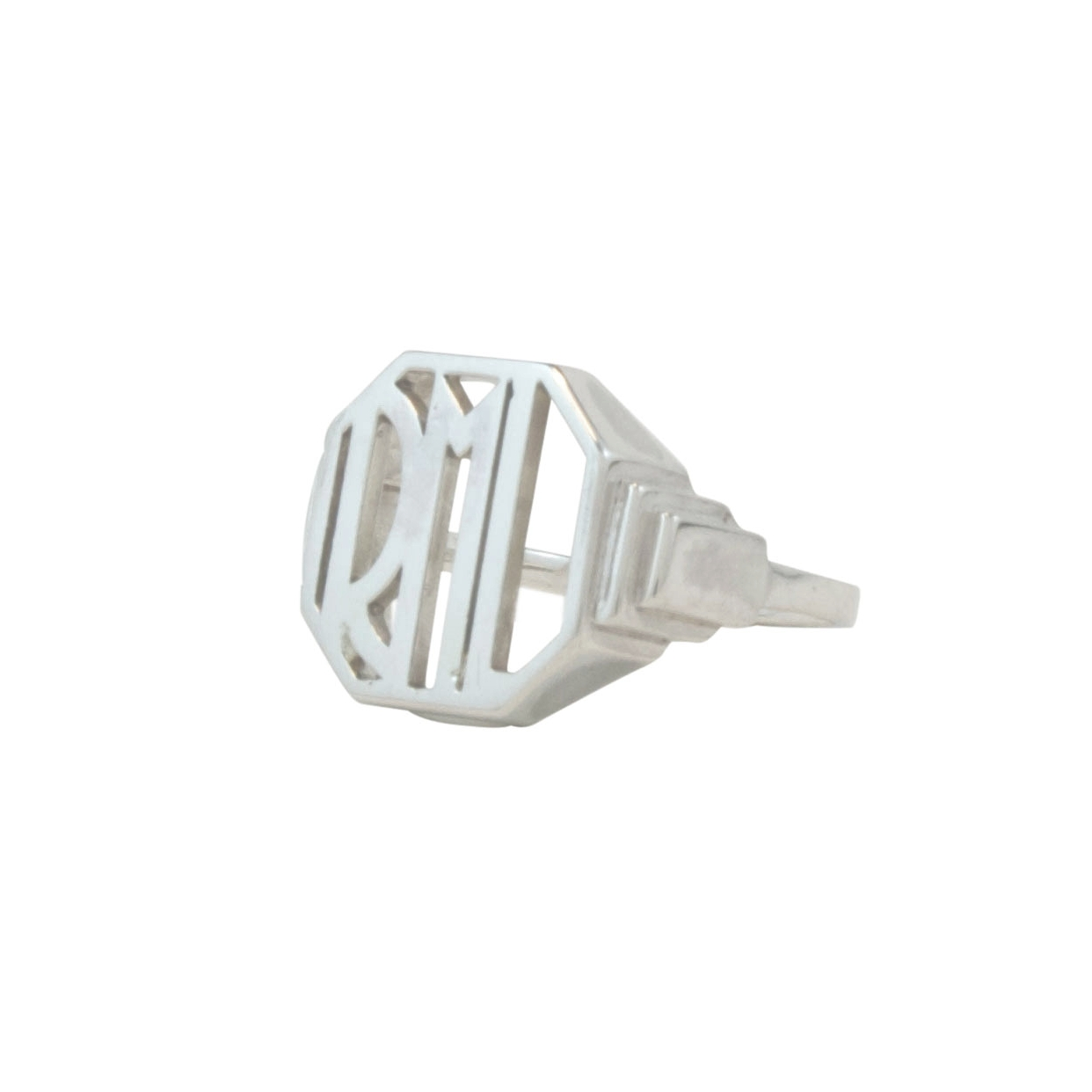 Sterling Silver Art Deco Signet Ring