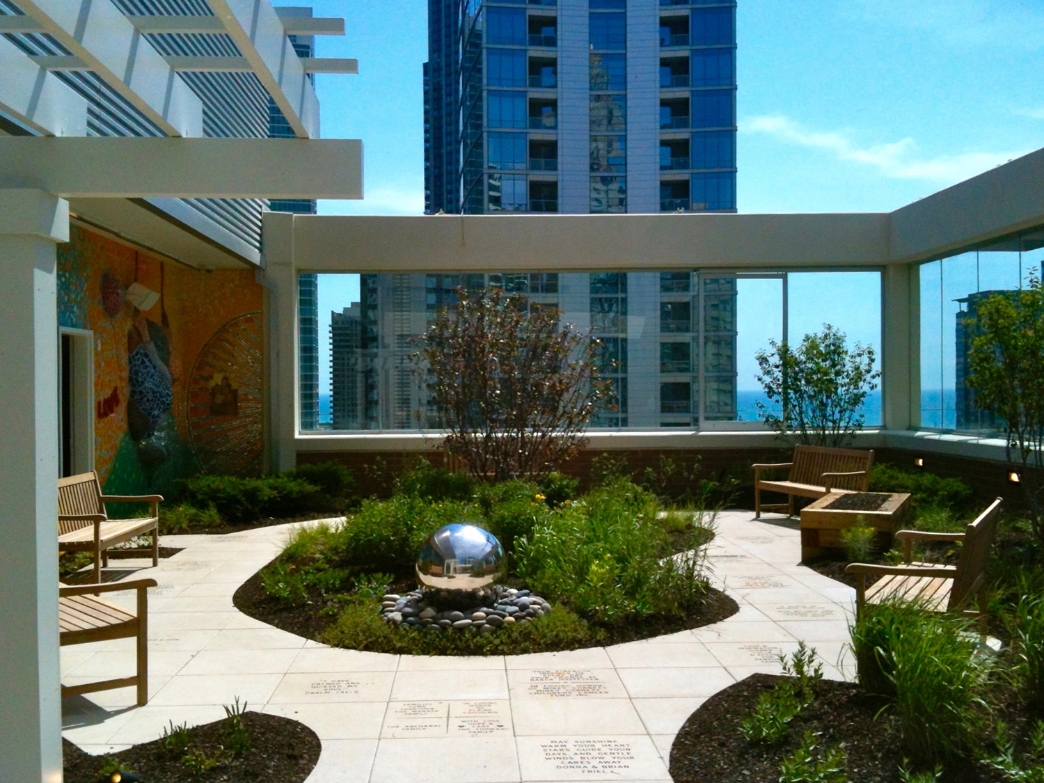 The roof garden of the Ronald McDonald House