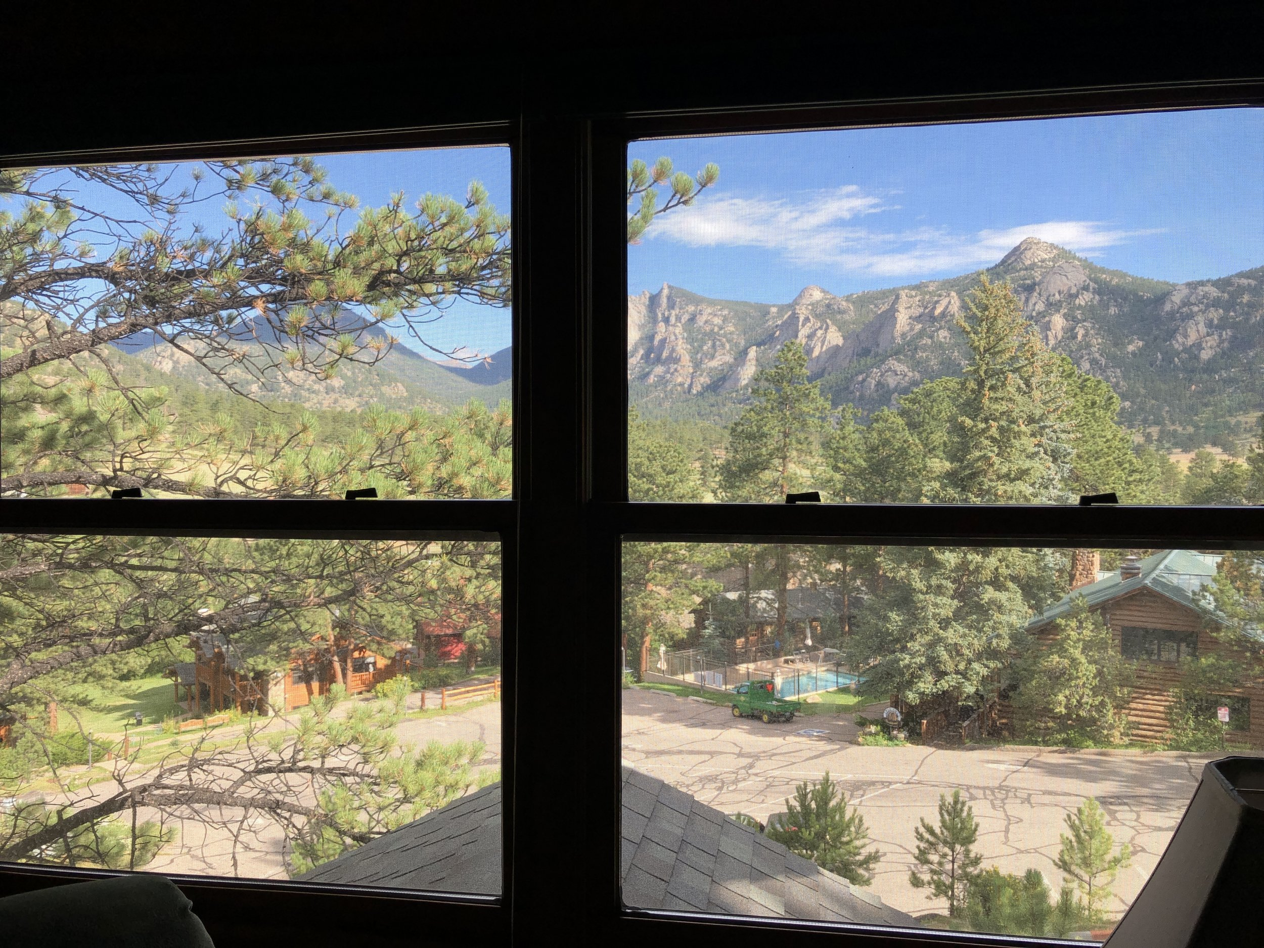 The view from our lodge
