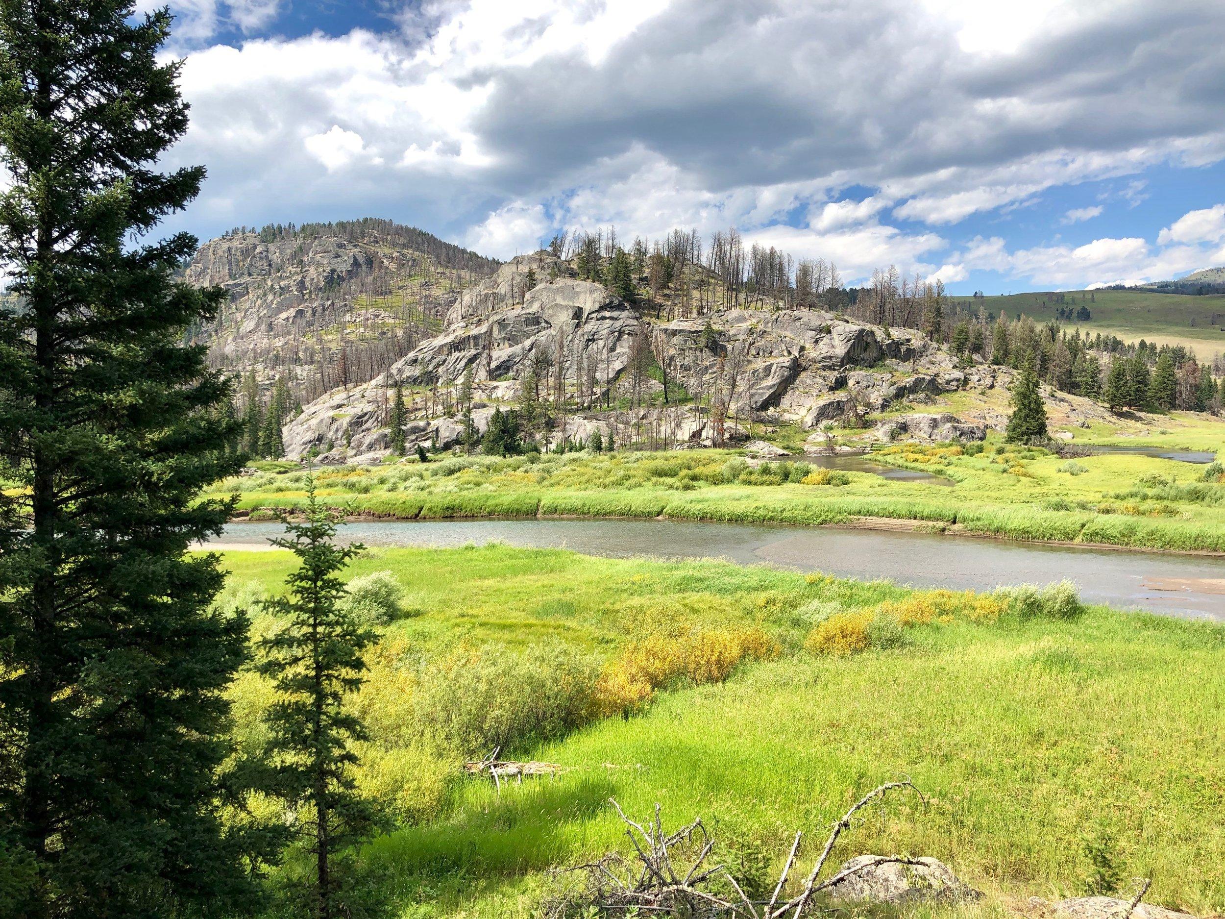 The Slough Creek hike...