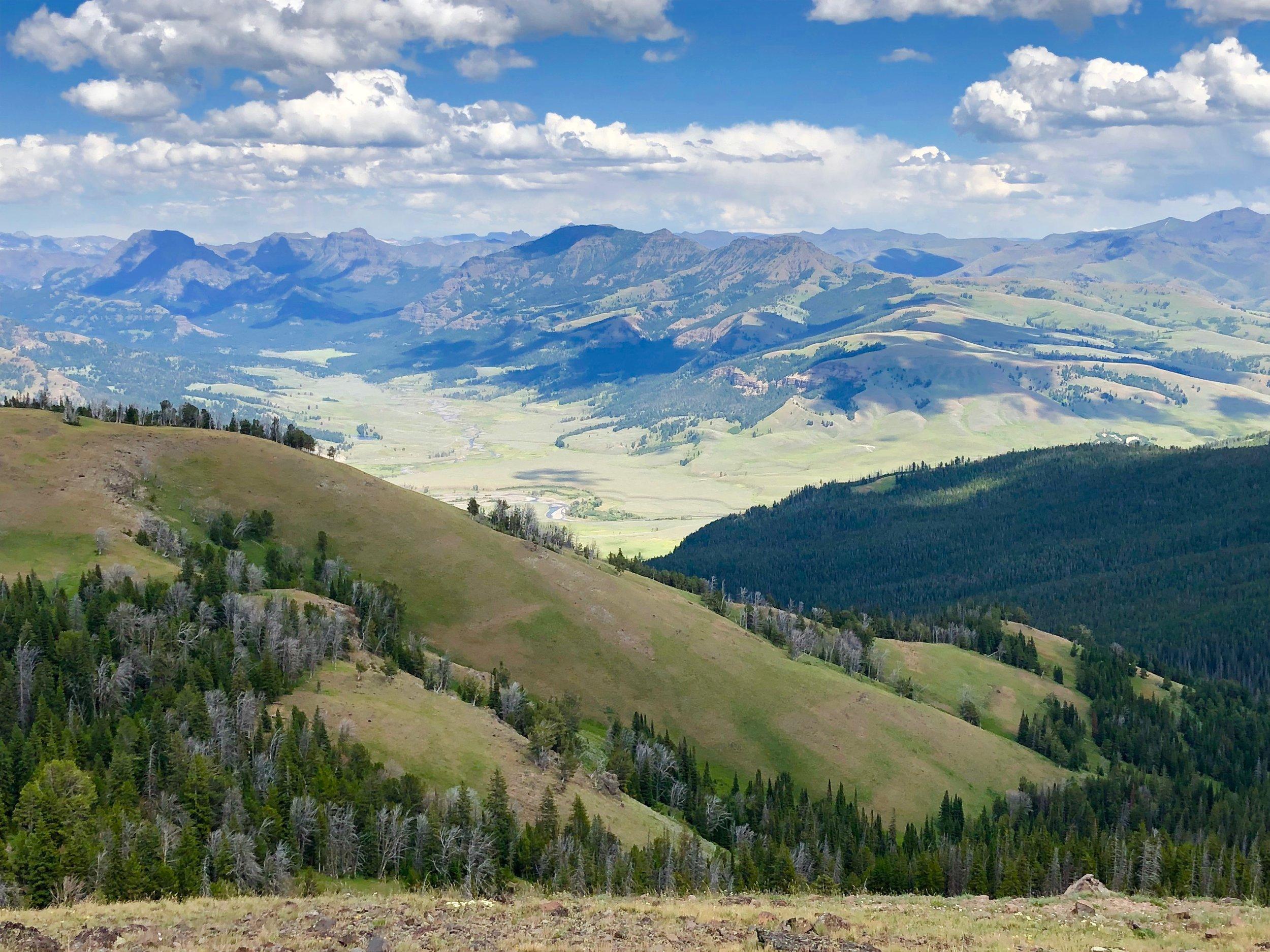 The summit of Amethyst Mountain. Elevation 9,614 feet