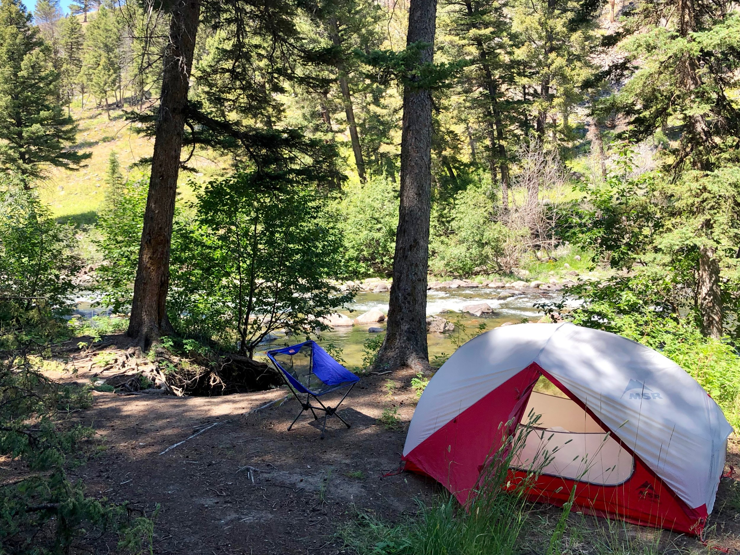 A perfect site by the Slough Creek