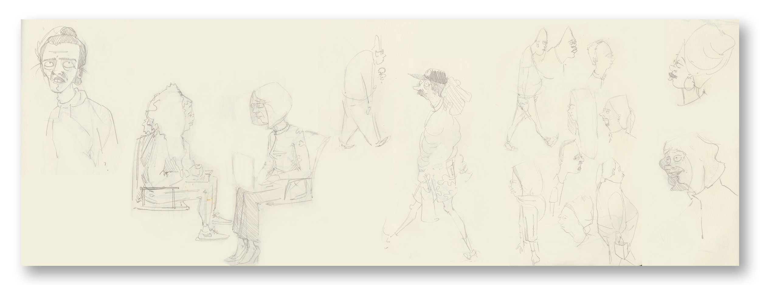People Sketches  Pencil