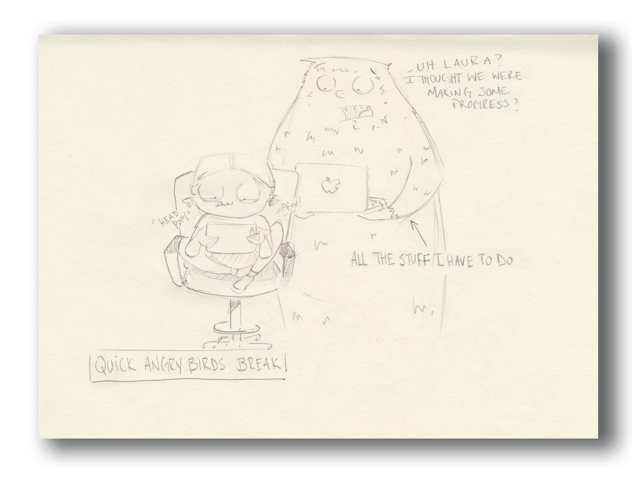 """Sketch for """"Al""""  Pencil Sketchbook"""