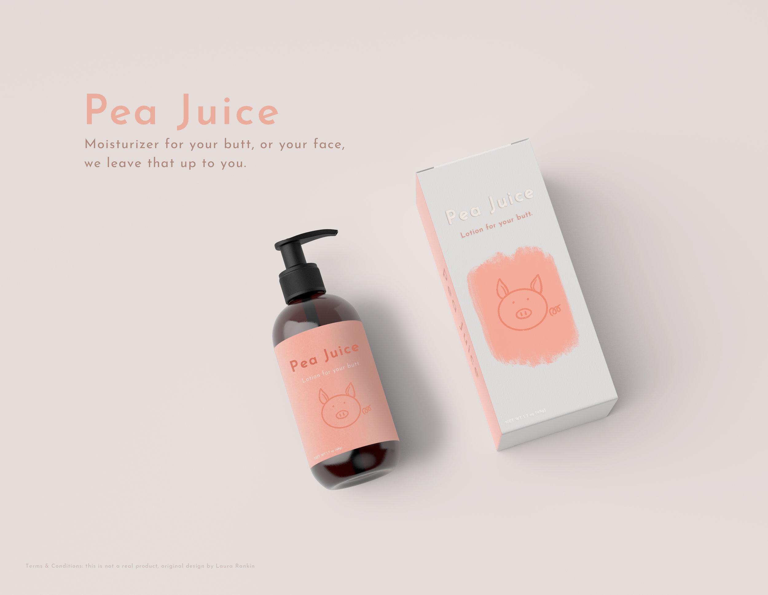 Pea Juice - Moisturizer - Design - Photoshop
