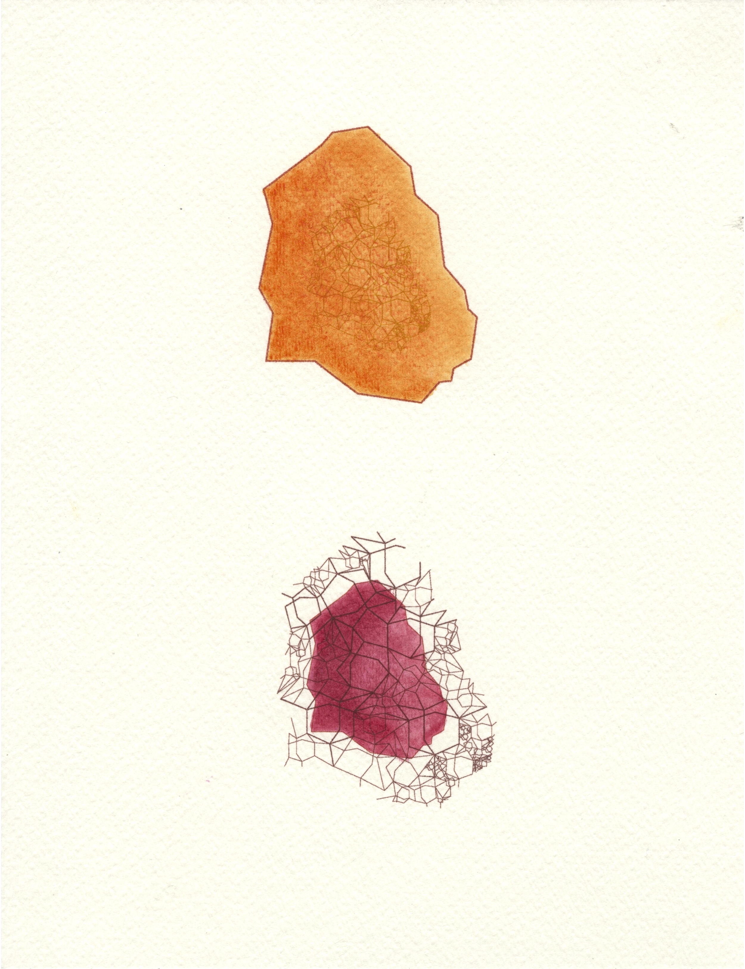 Agates , 2015.Illustrator and watercolor (series of two 8.5x11).