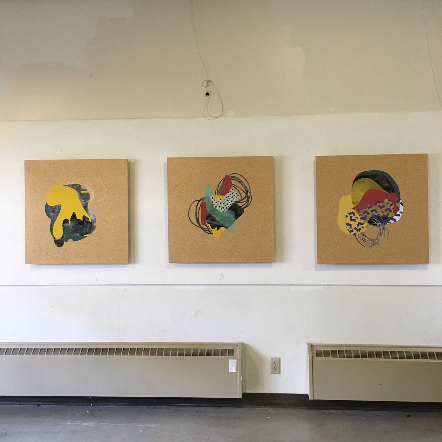 2015, printed vinyl on particle board (series of three 30x30).