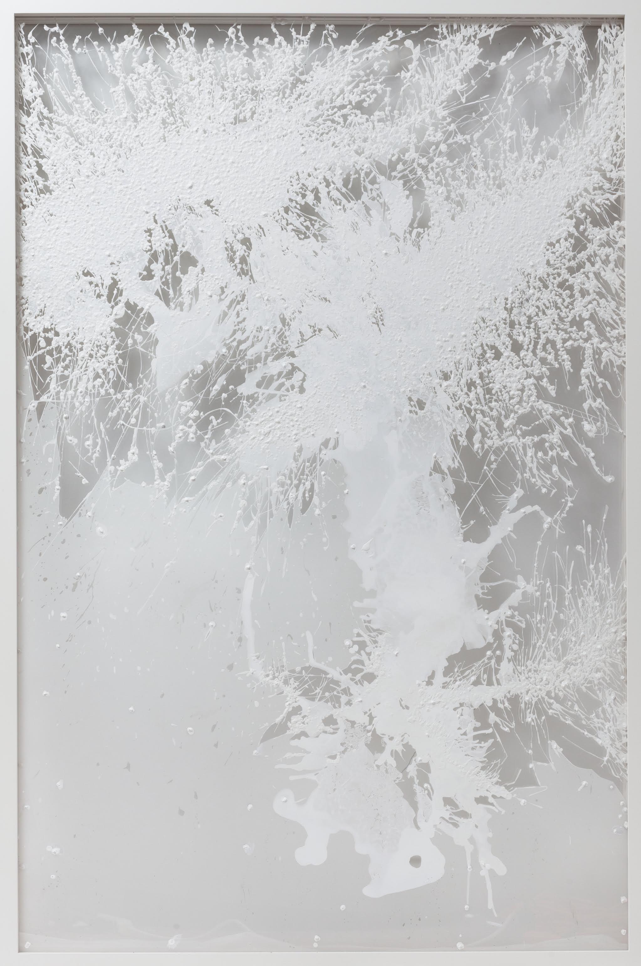 Chunky Tree, 2008  Acrylic, mylar, thread, plexi-glass  64x 44inches