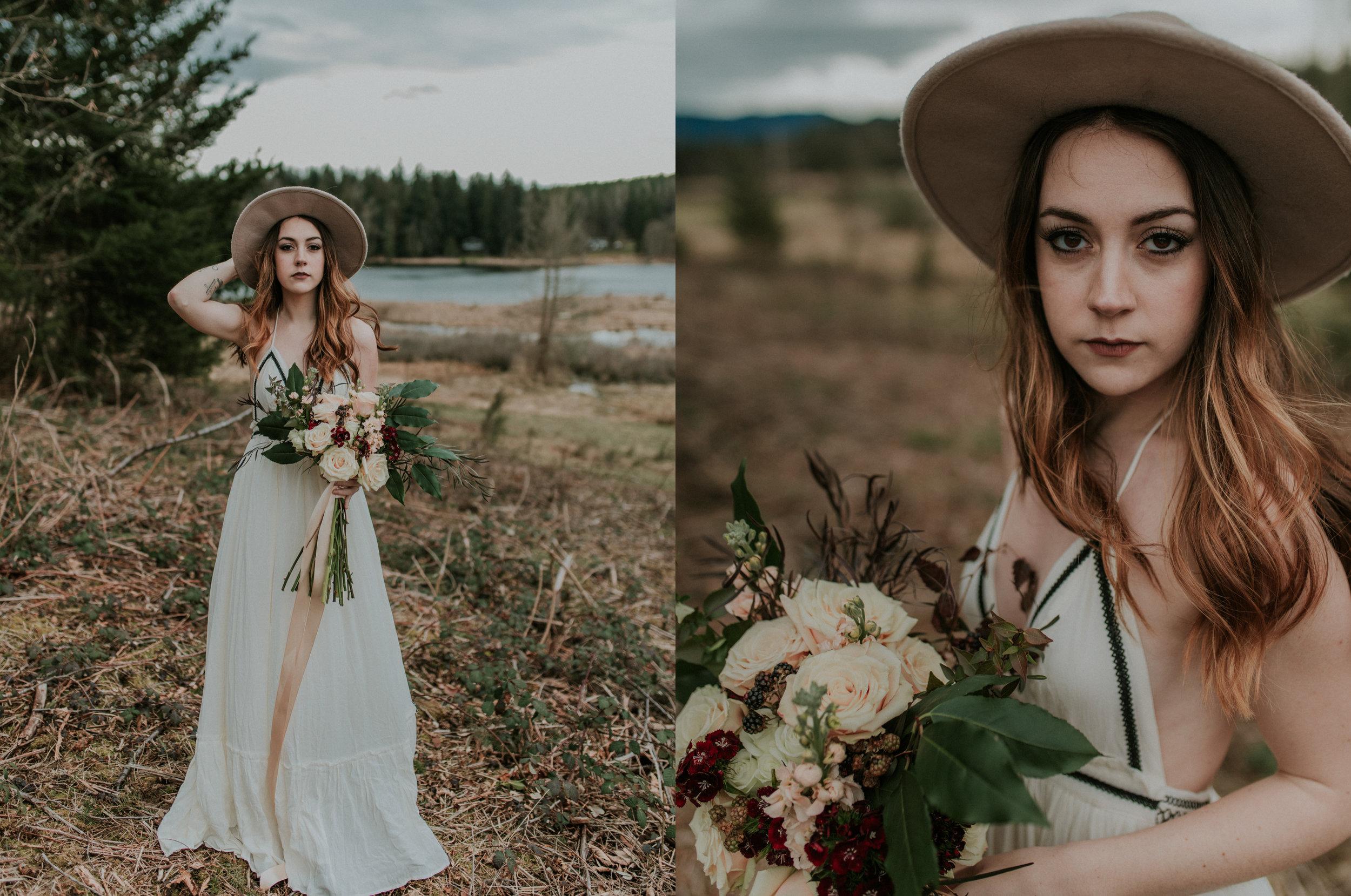 countryside bridal portraits