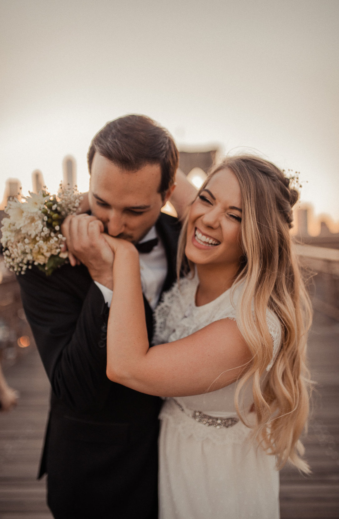 """she made us feel so comfortable. her feedback during the shoot— how to pose— was a really amazing experience. i wish she photographed our initial wedding!"" - -sarah x matthais, brooklyn vow renewal"