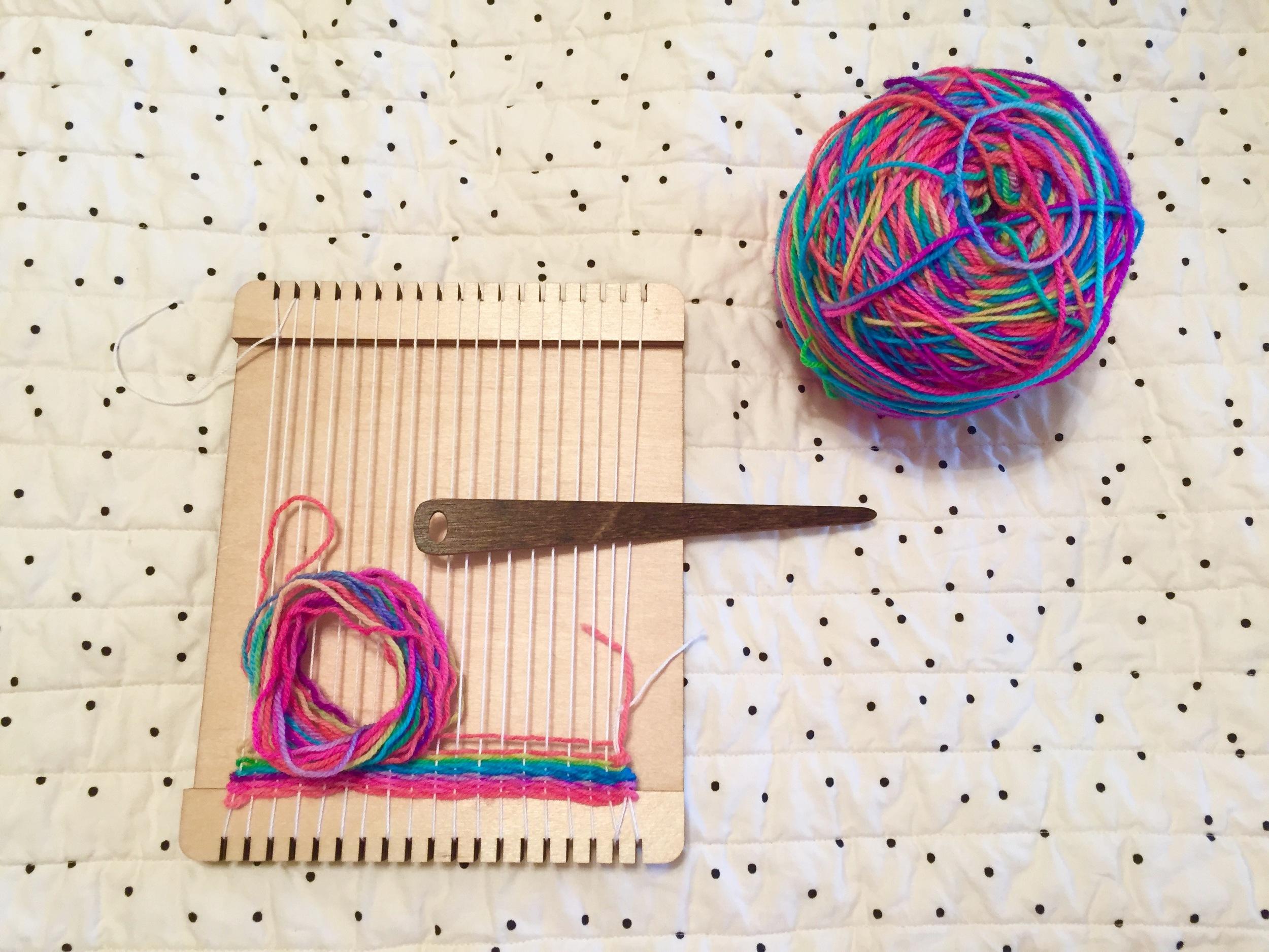 My new rainbow weaving.