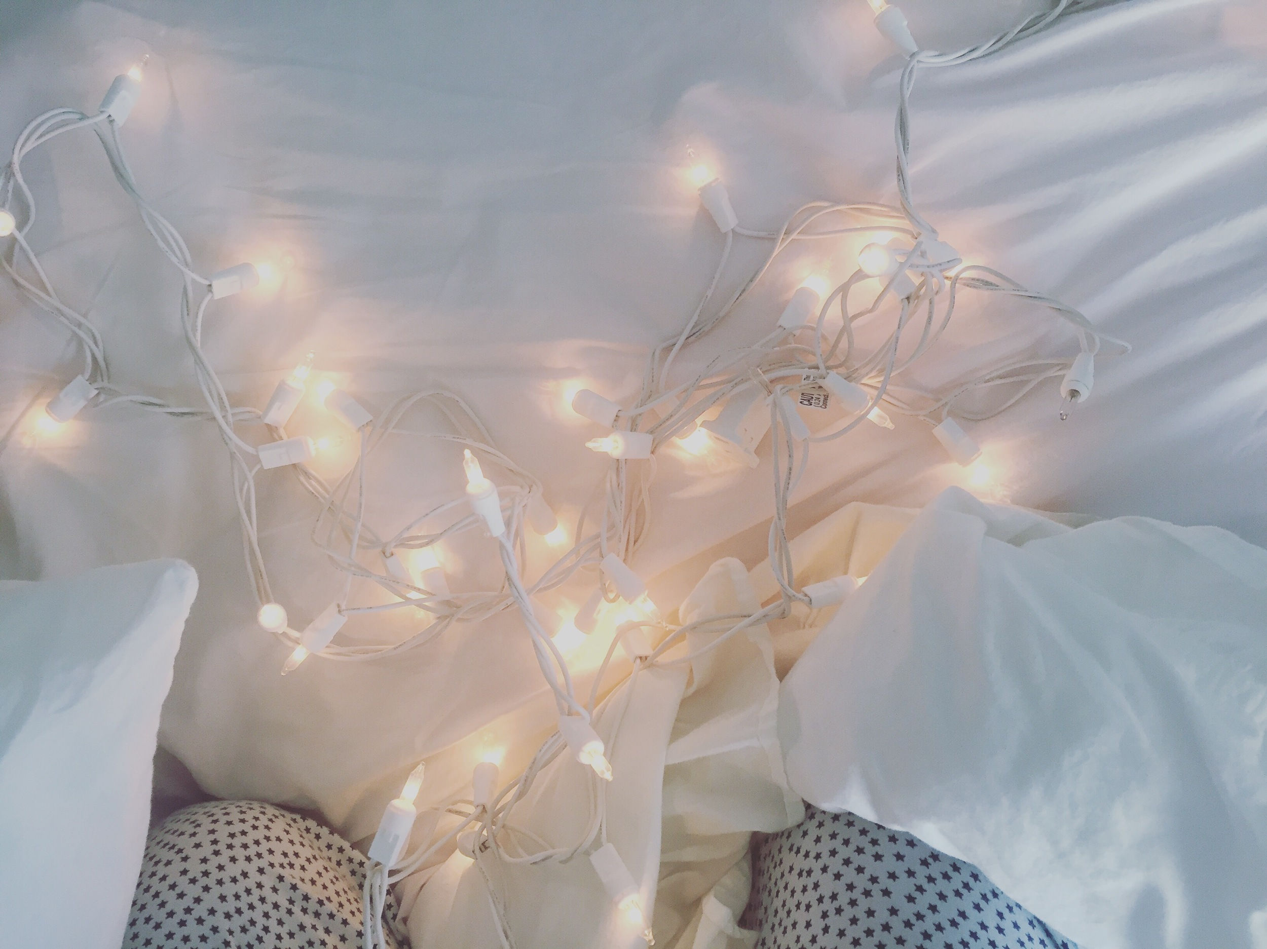 And just a pretty one- I have these Christmas lights wrapped around my headboard and in the last couple of weeks they have been blinking off and on constantly because a bulb is lose. I was able to fix them and enjoy the light again.
