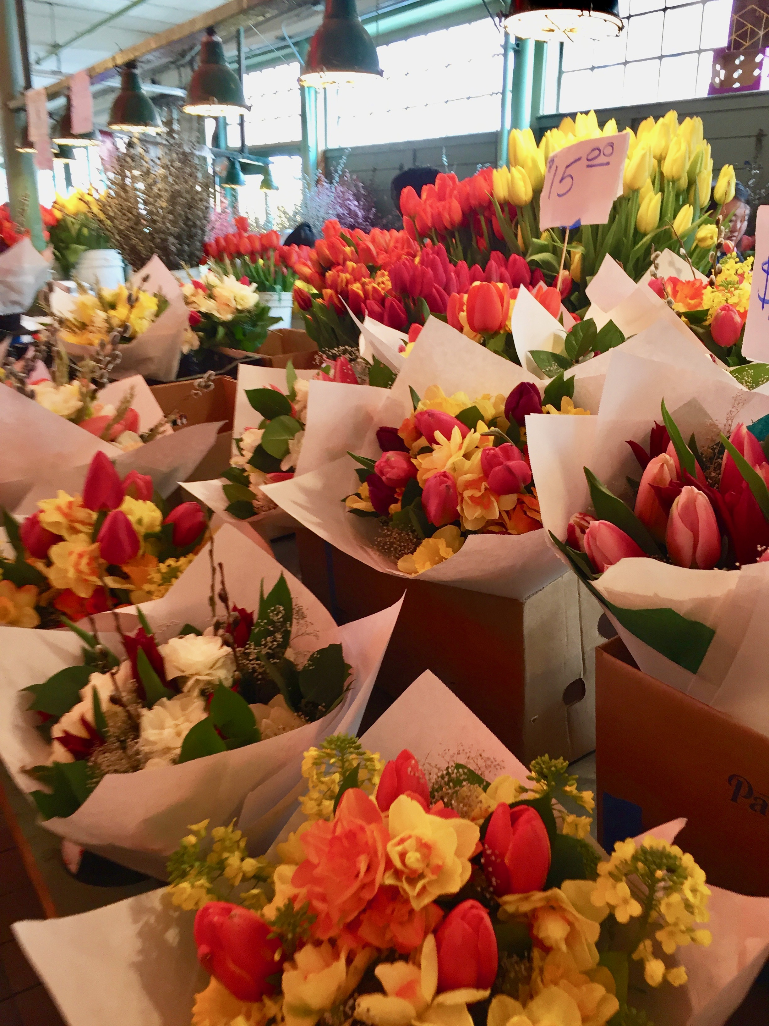 Pike Place always has the prettiest and cheapest flowers.