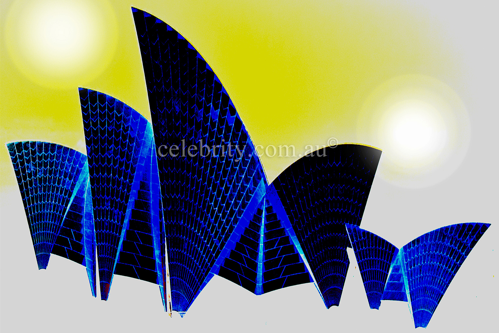 Sydney Opera House in Blue
