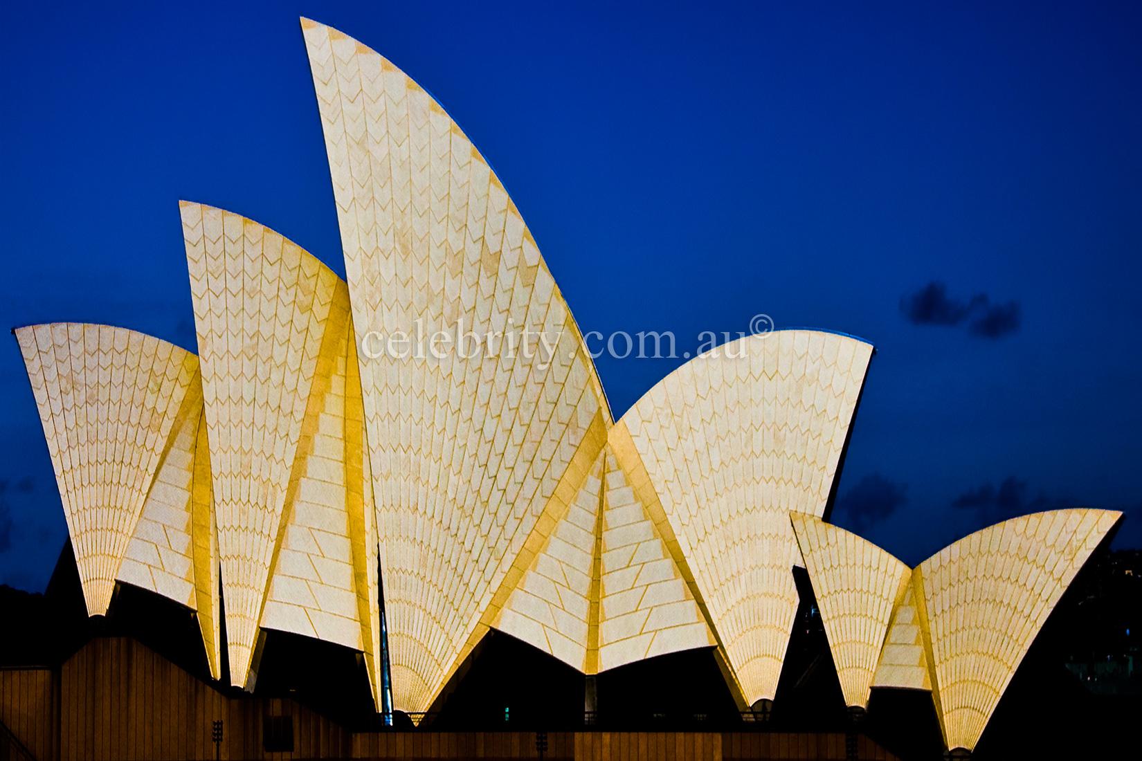 Sydney Opera House in Gold