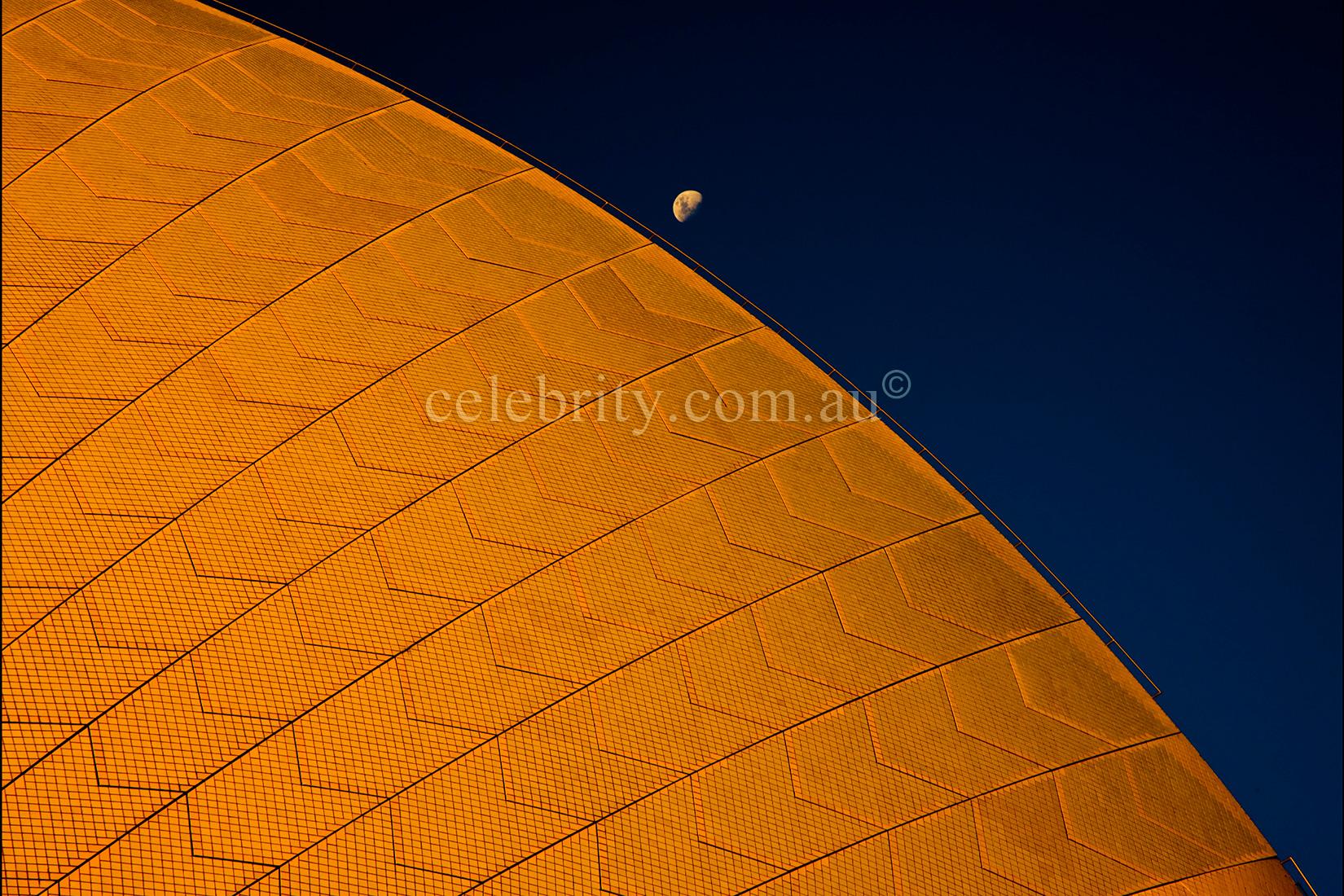 Half Moon Over Sydney Opera House