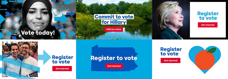 Digital ads — Hillary for America Design 2016