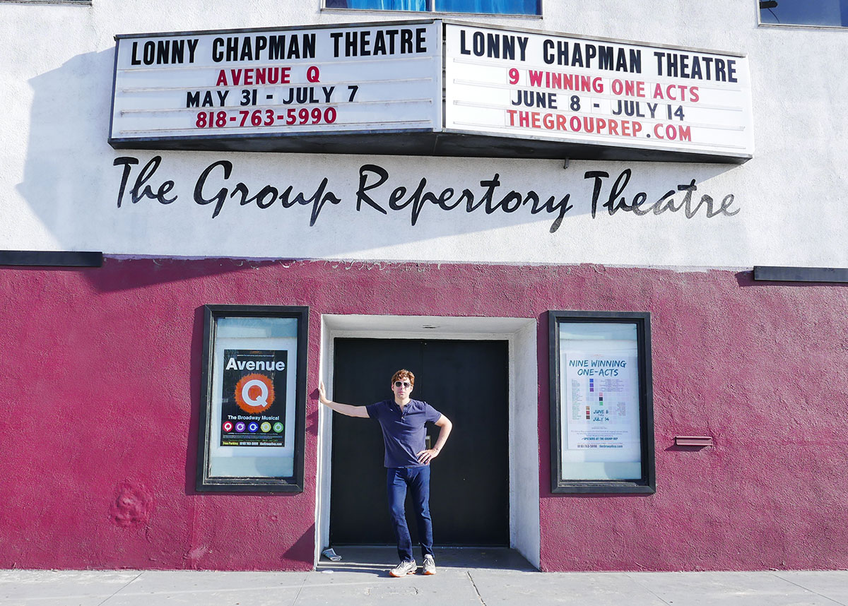 Outside The Lonny Chapman Theatre in North Hollywood, CA