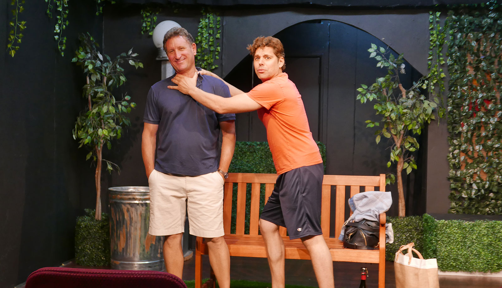 With David D'Amico post curtain call for Park Passages at  Actors Workout Studio  in N. Hollywood. David and I play brothers who let years of pent up resentment out during an argument over money. Next show tonight at 8pm.