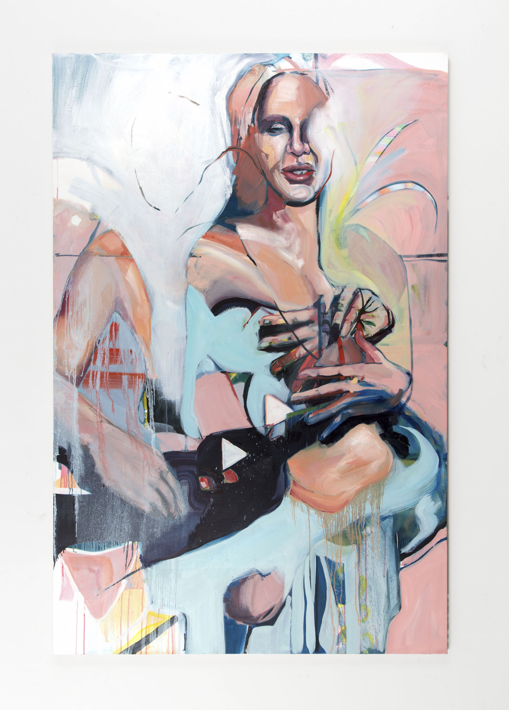 Mel,  oil and acrylic, 46''x70'', 2019