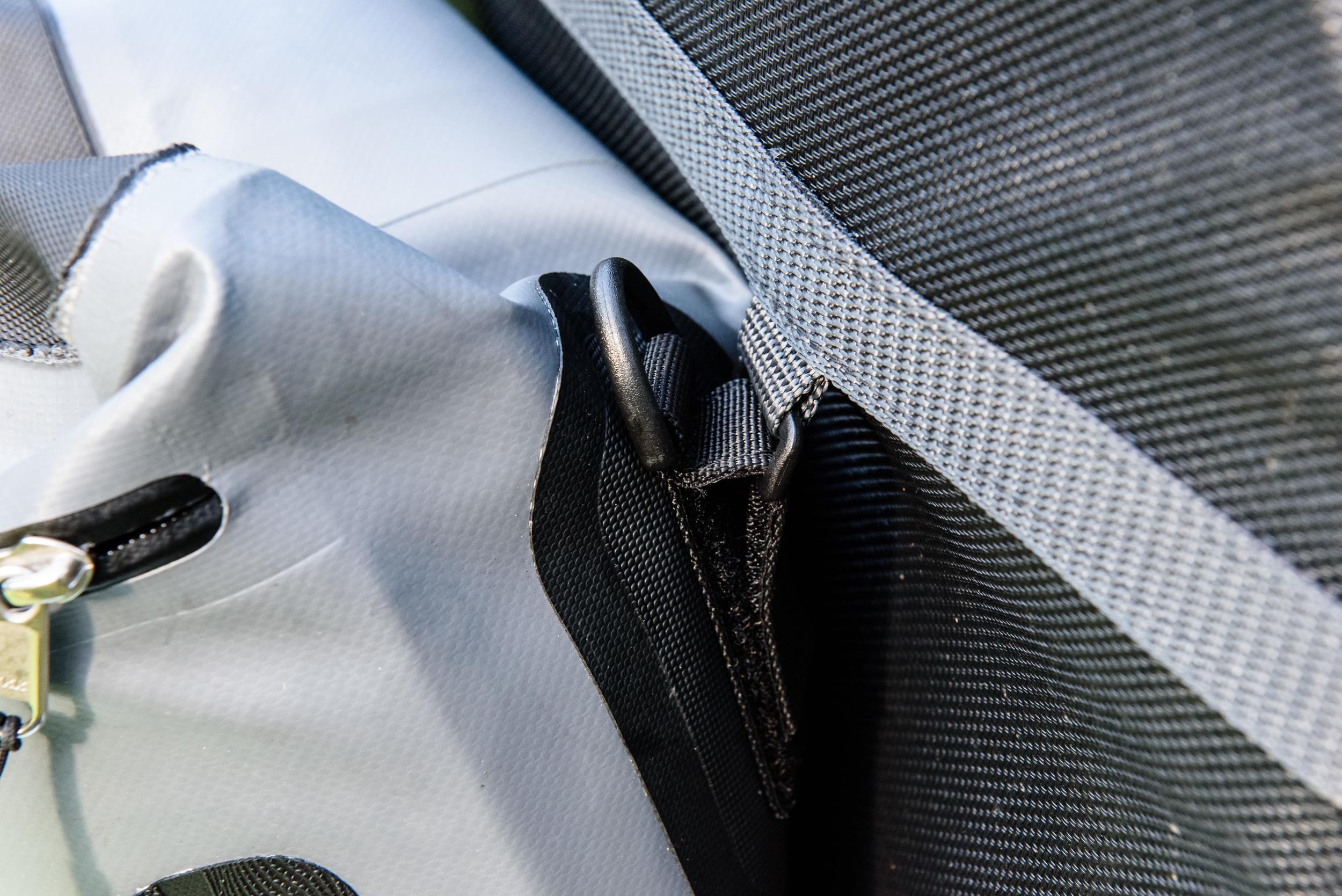 Velcro bag attachment