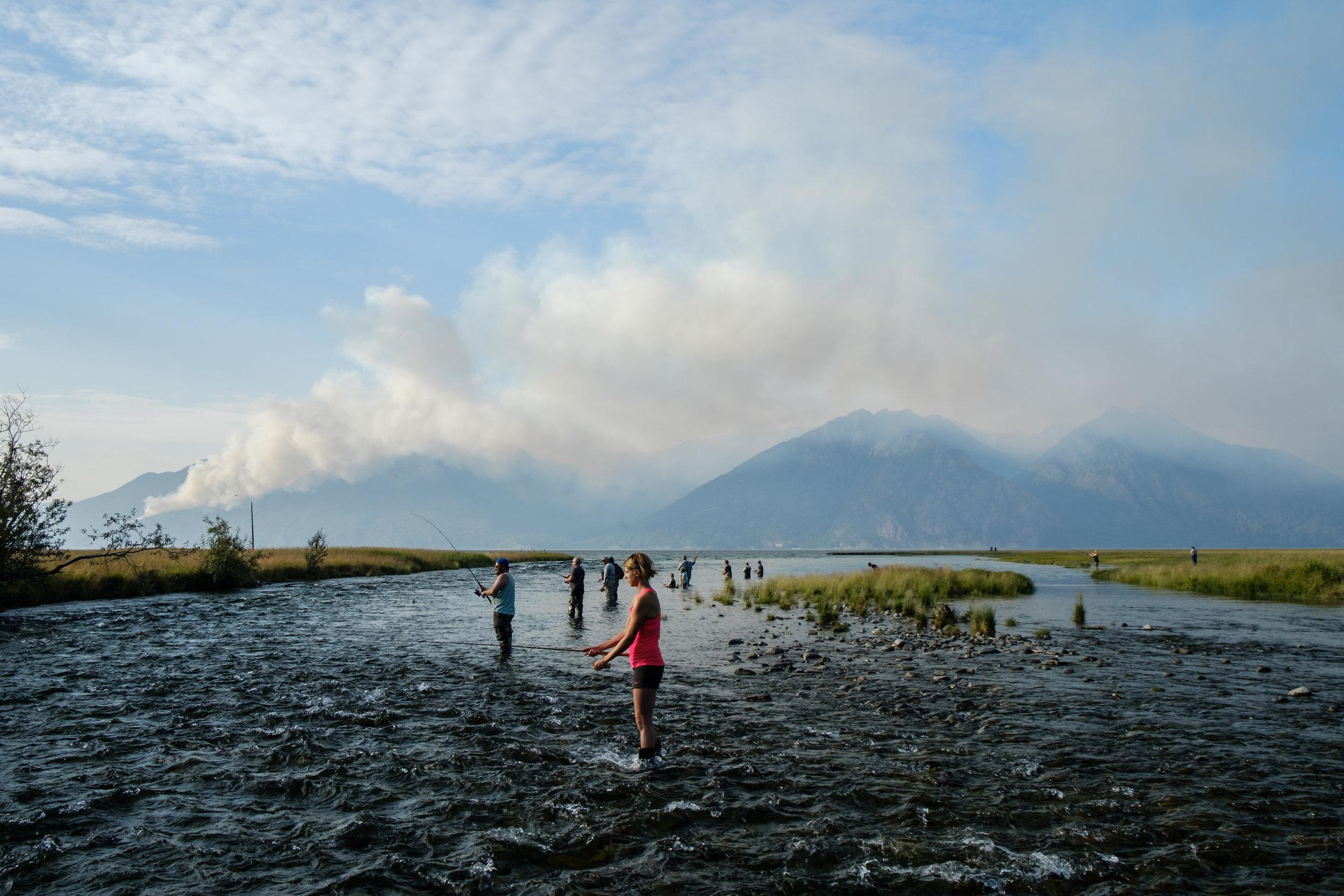 Typical Alaska fishing scene