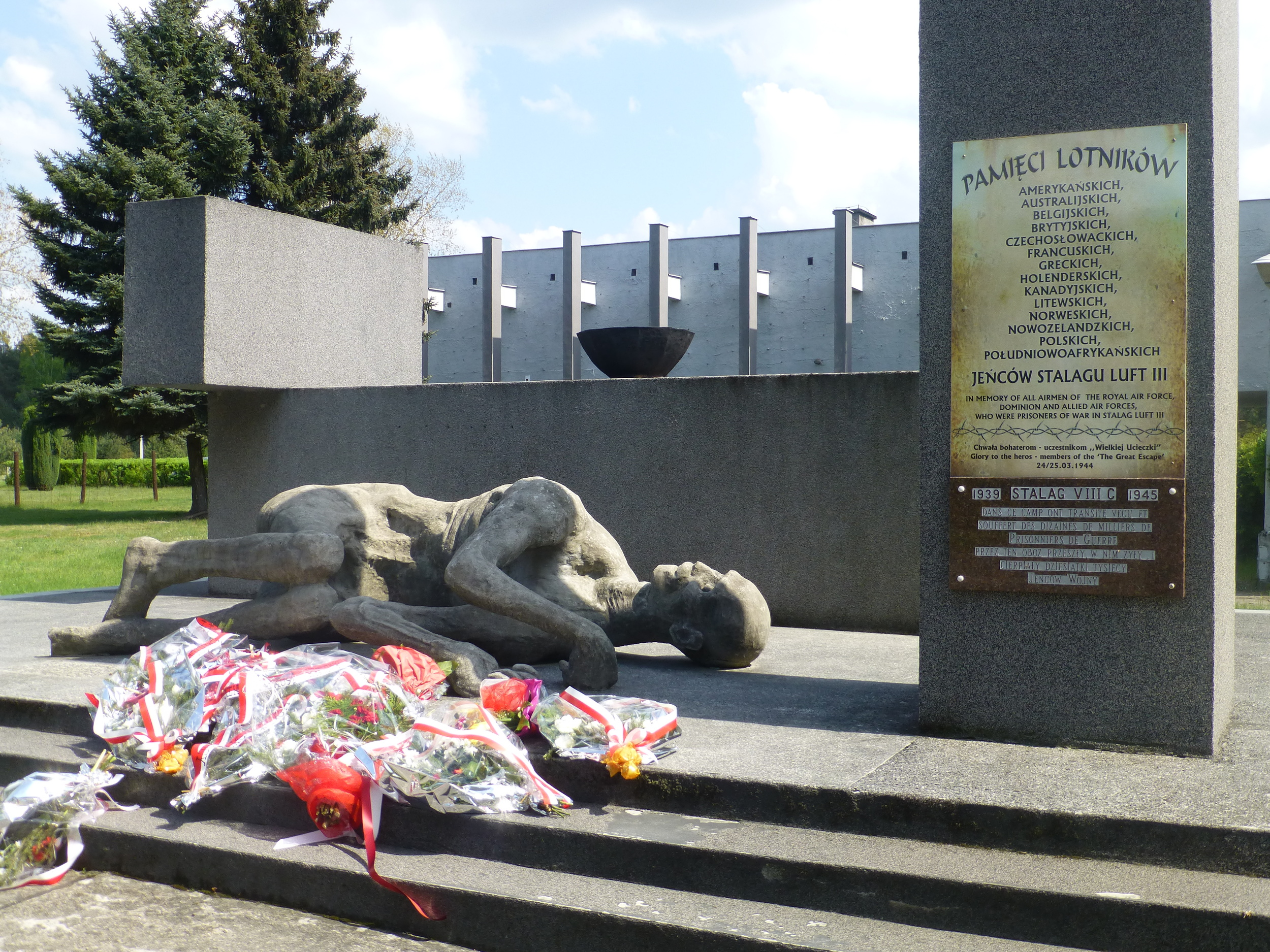 IT WAS VICTORY IN EUROPE DAY WHEN WE VISITED SO A MEMORIAL CEREMONY HAD TAKEN PLACE EARLIER THAT DAY