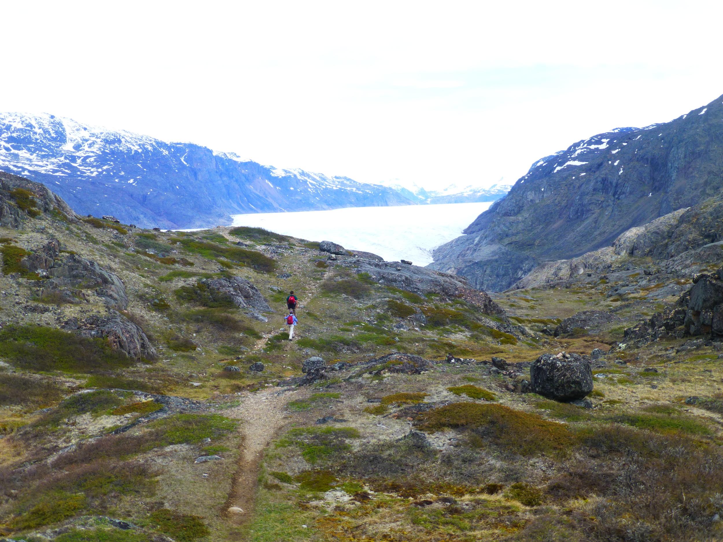 Nearing the Glacier
