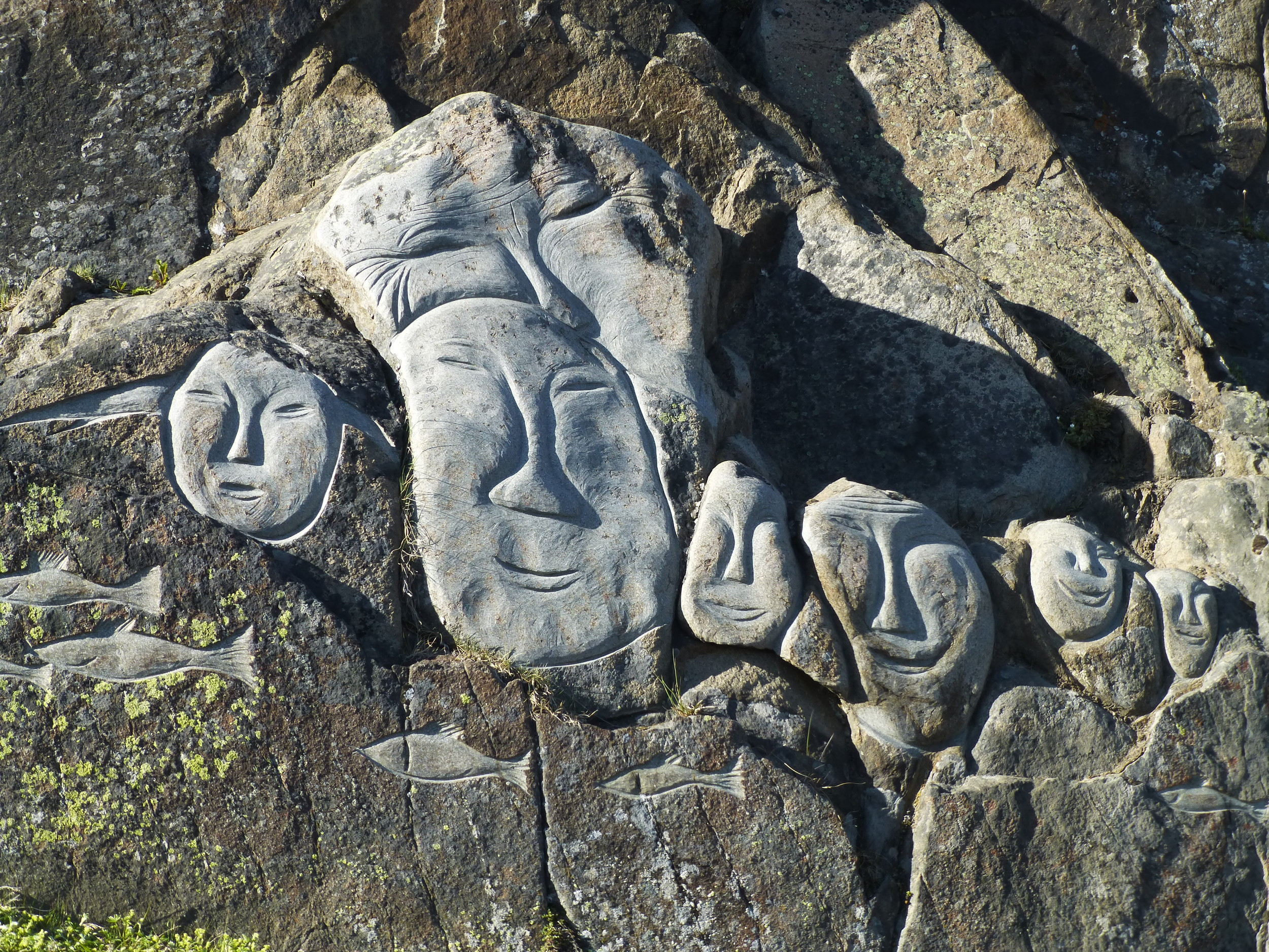 Rock carving Qaqortoq