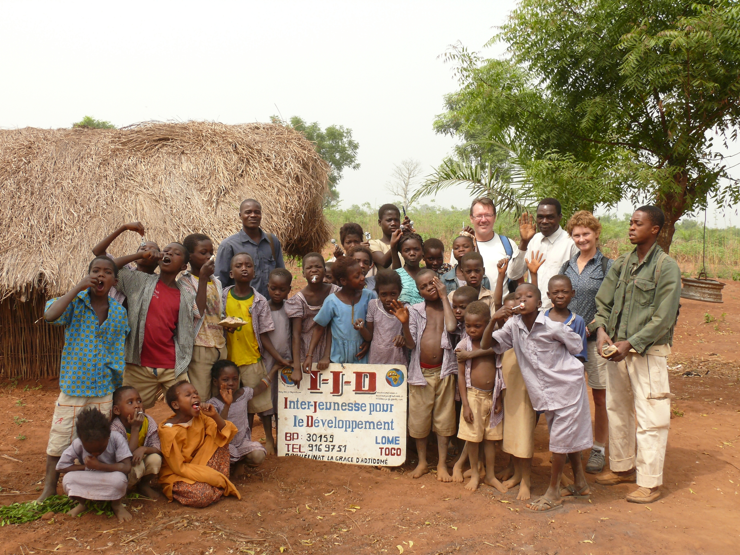 Orphan school - pupils and teachers