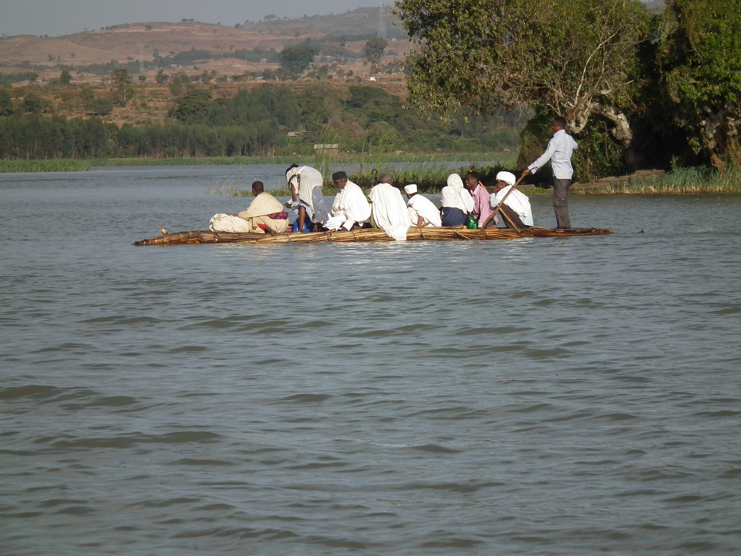 CROSSING TO THE MONASTERY. WATCH OUT FOR THE HIPPOS.