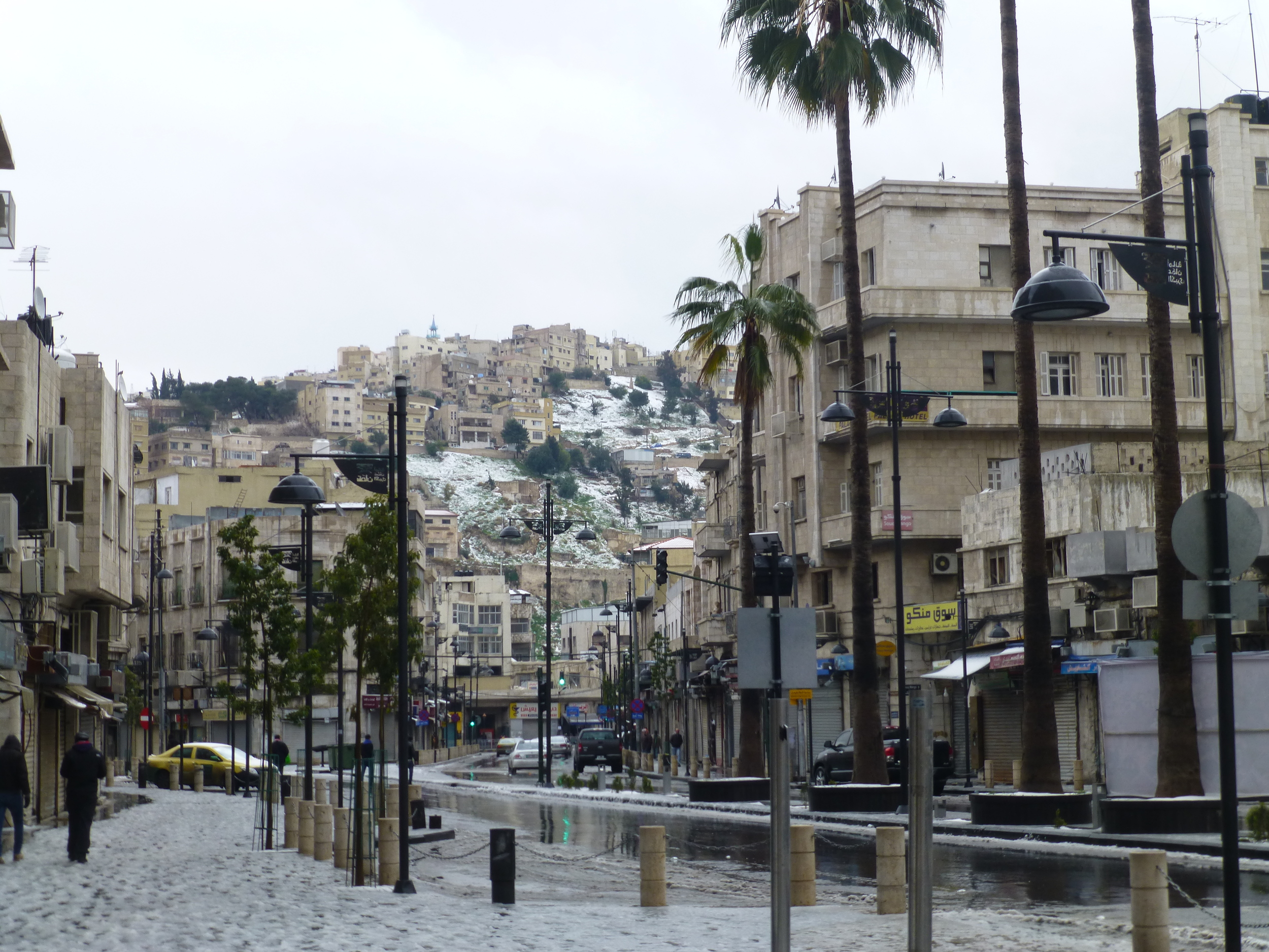 snowy street scene,Amman