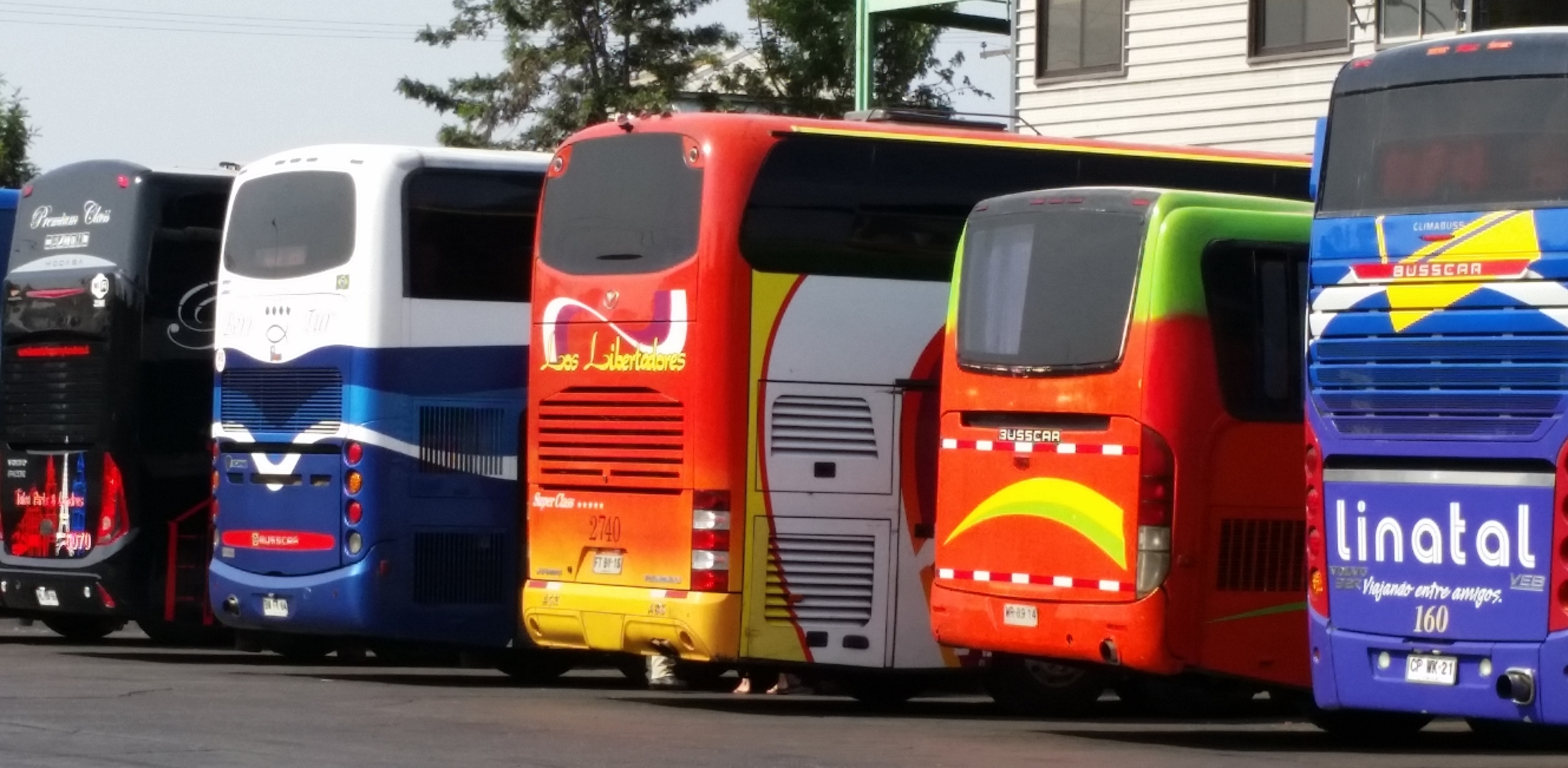 Colourful Chilean buses