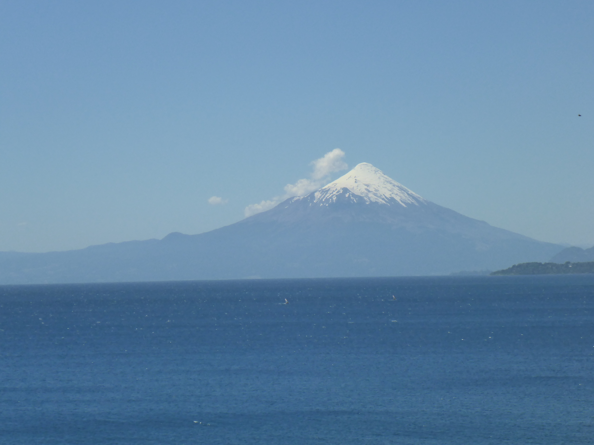 Volcan Osorno. If you look carefully you can see a couple of windsurfers.