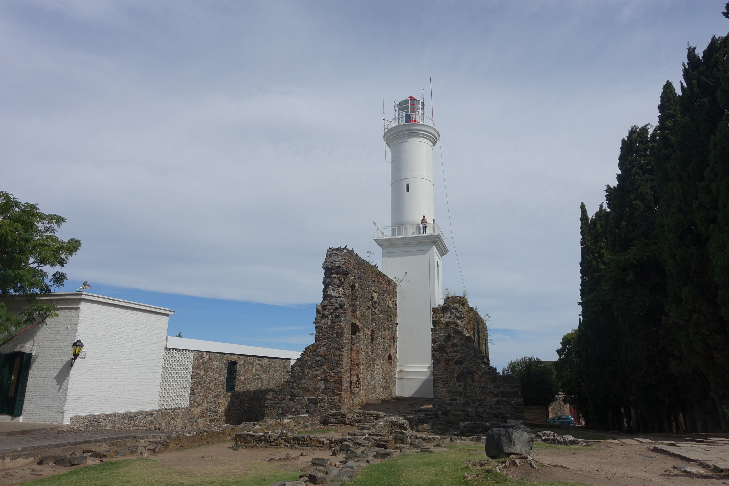 lighthouse built on the ruins of Convento de san francisco (17th century)