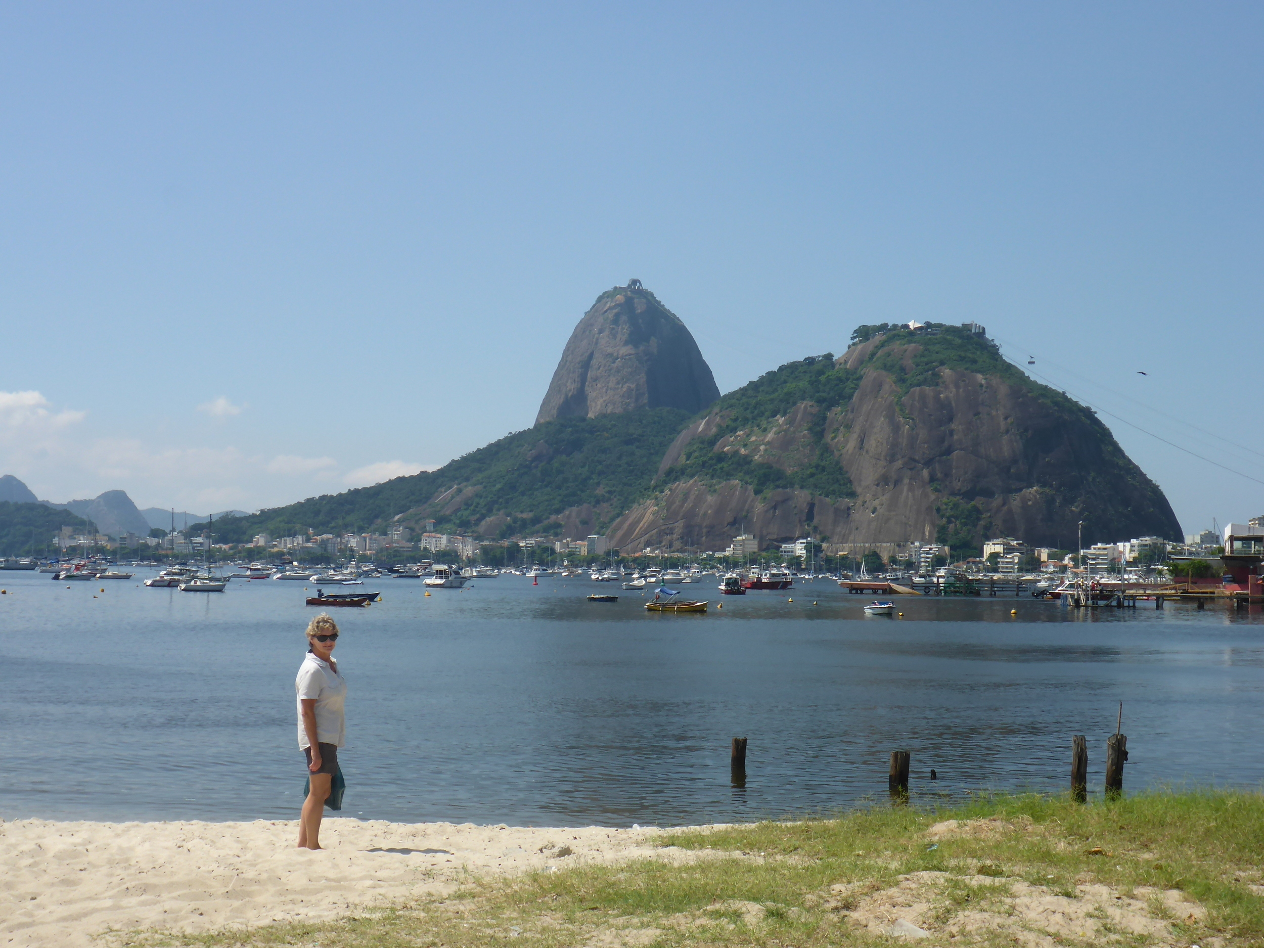 sugarloaf mountain from botafogo beach