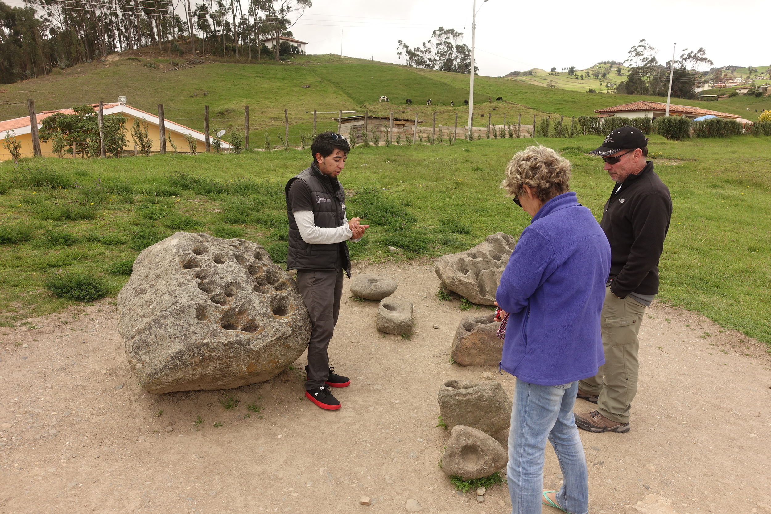 Our guide explaining the significance of these stones.