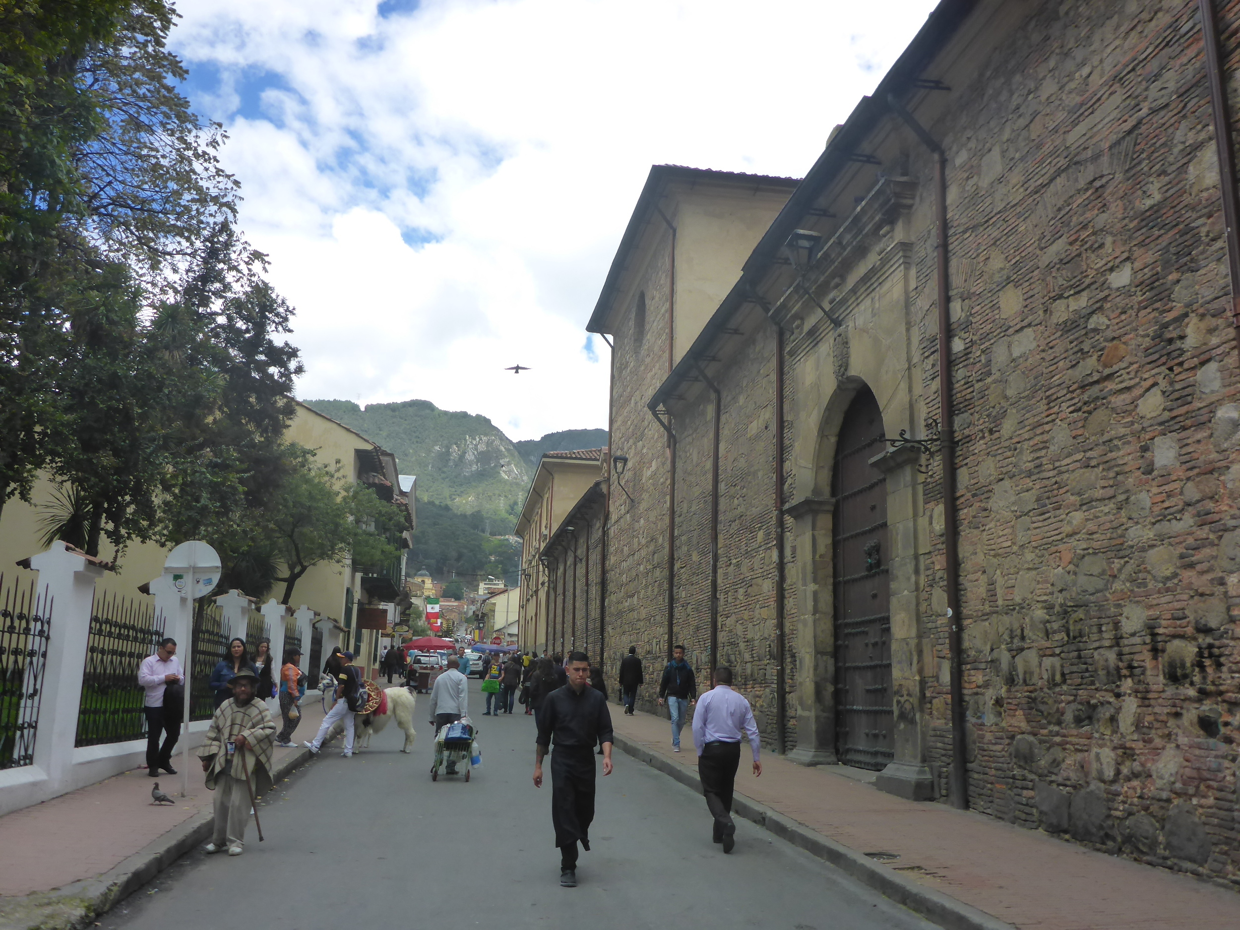 the historic streets of central bogota, la candelaria