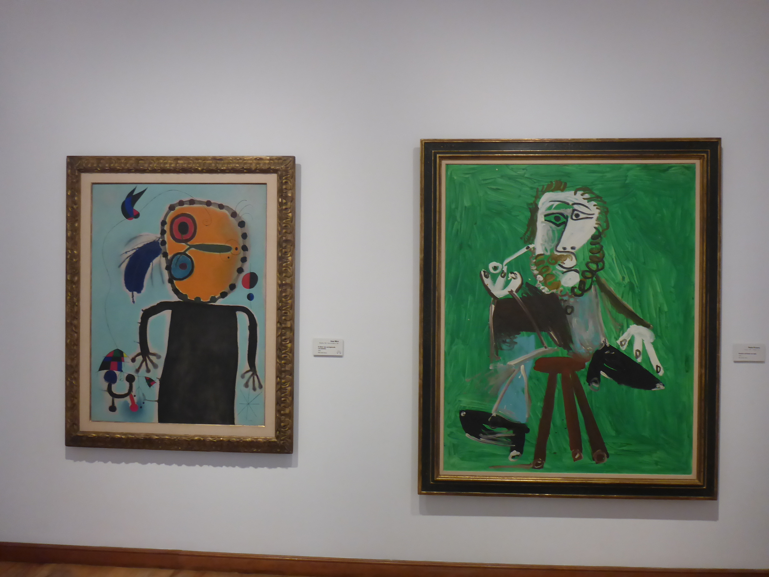 THE BOTERO GALLERY ALSO FEATURES MANY GREAT MASTERS. hERE is a miro beside a Picasso.