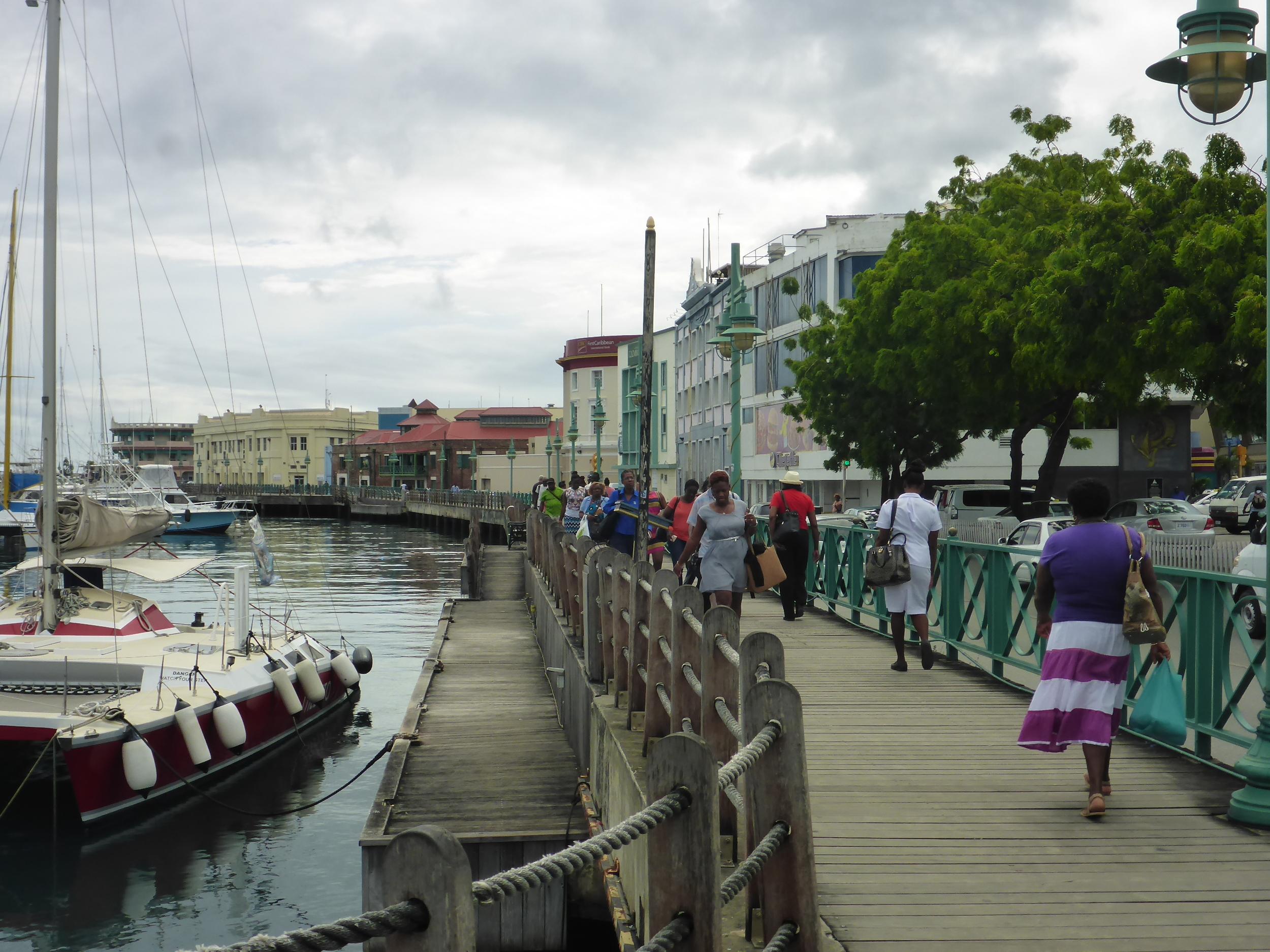 river walkway, bridgetown