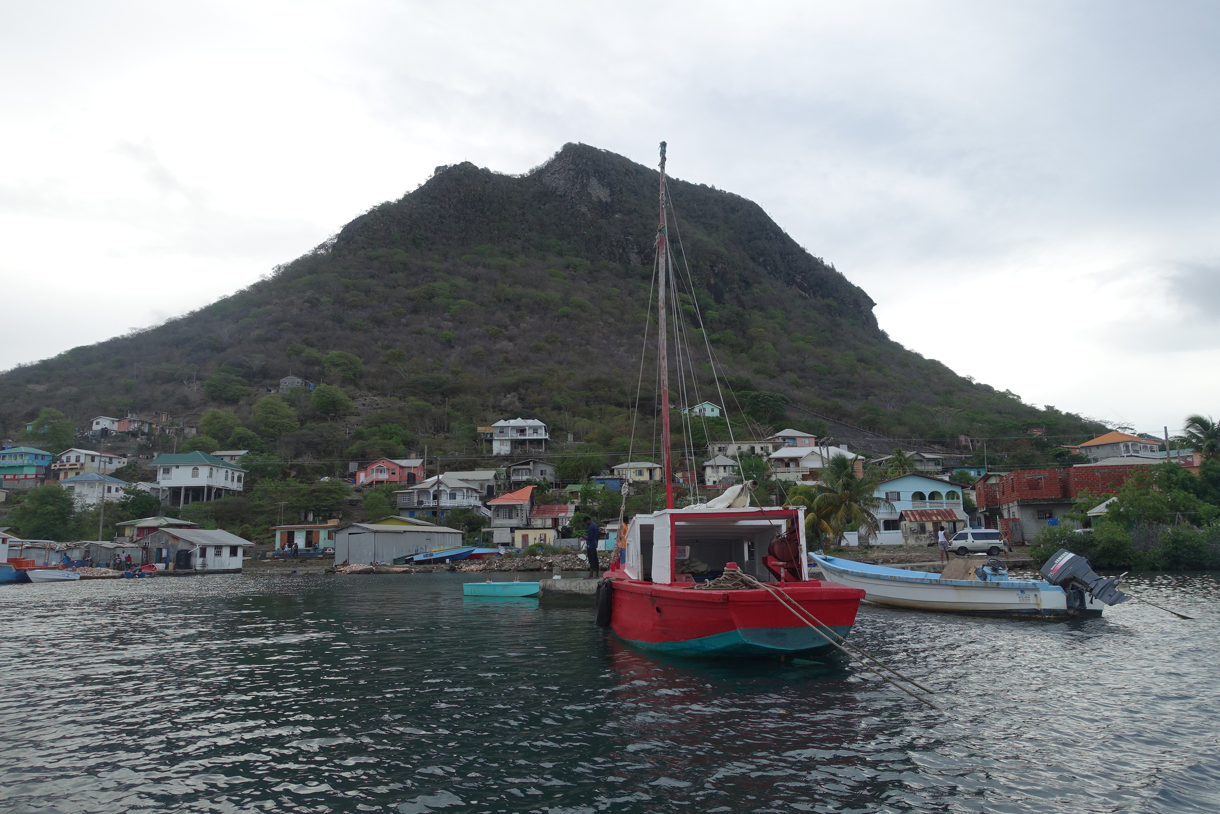 arriving at ashton, union island. Clifton is ten minutes drive from here along the coast.