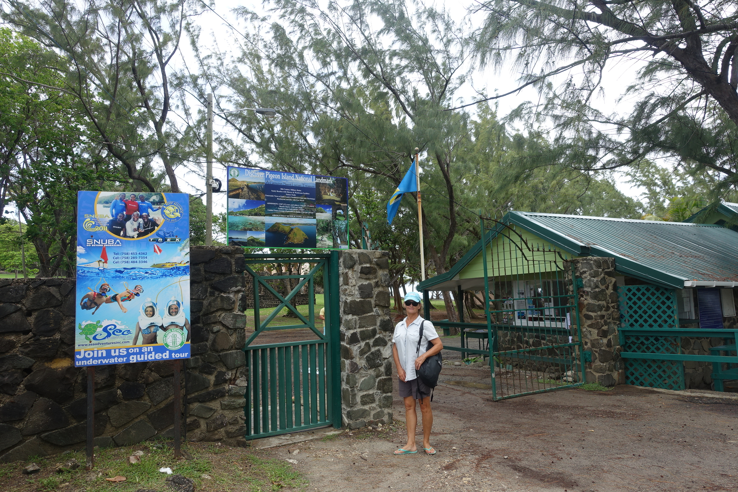 entrance to Pigeon island