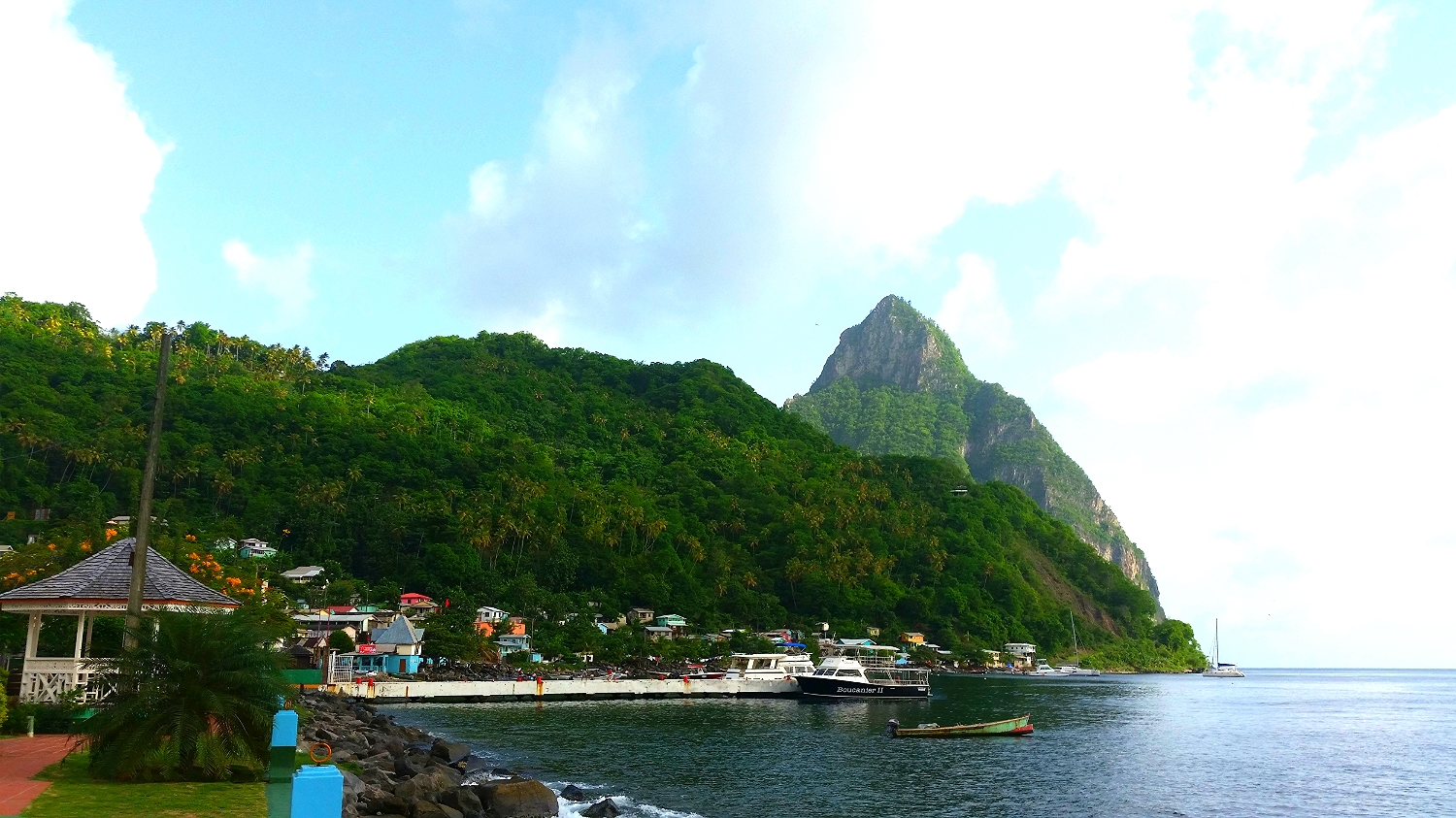 Soufriere and petit piton