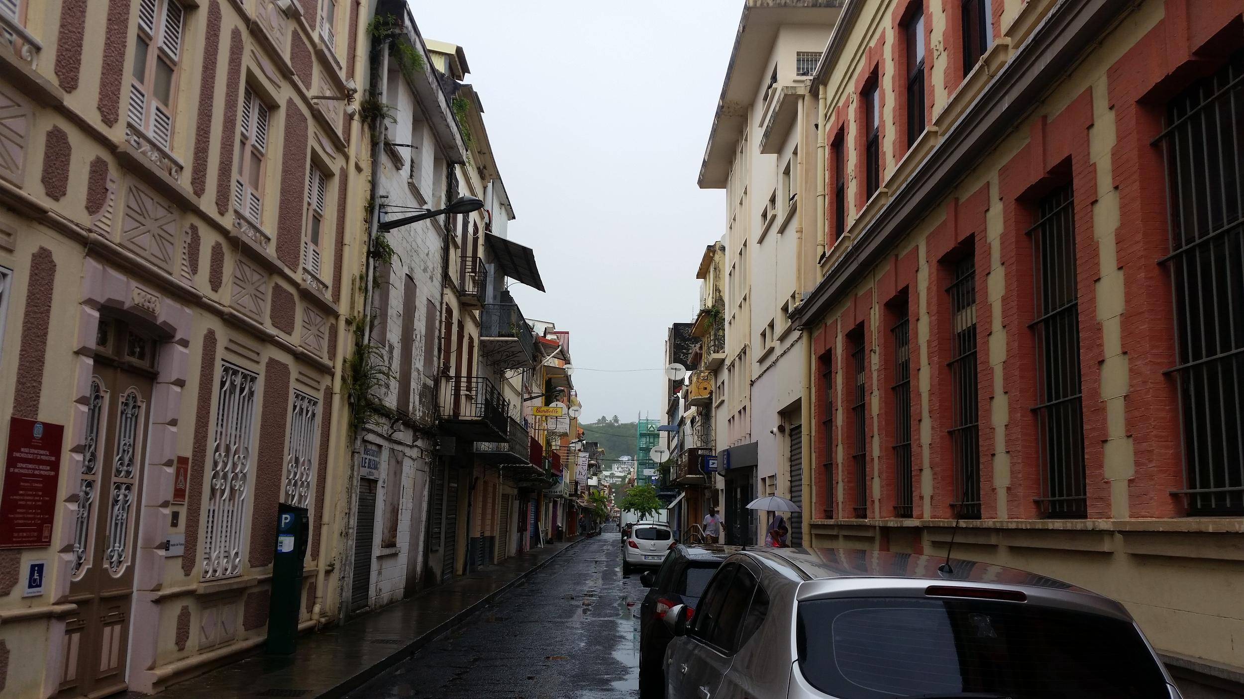 a wet sunday in fort de france
