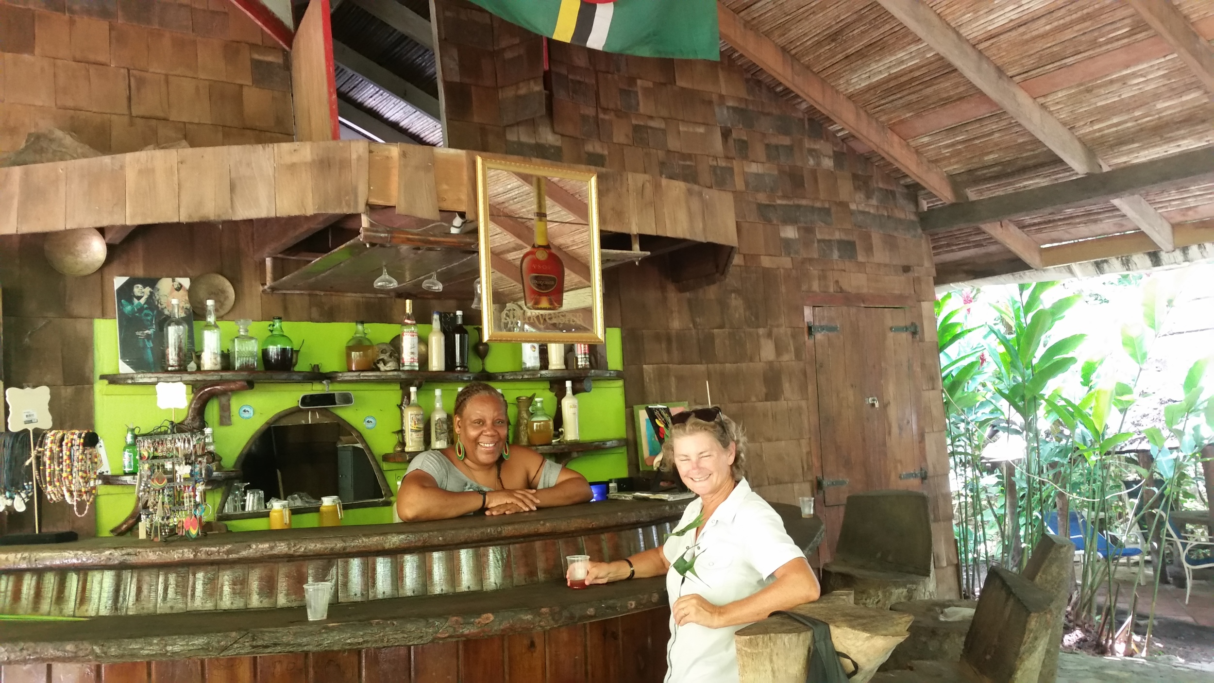 time for a rum punch at the dynamite bar