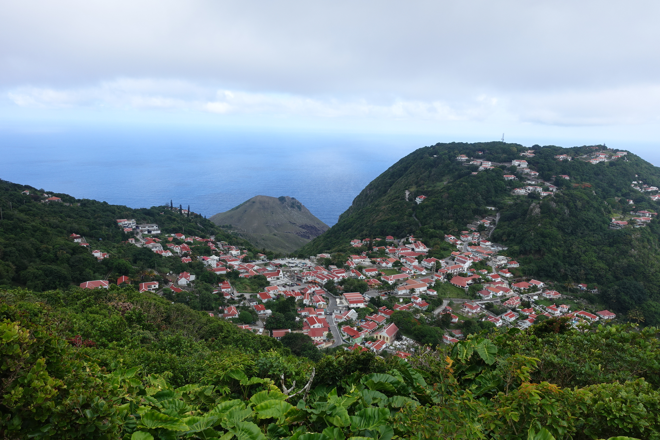 windwardside from the mount scenery track - maskehorne hill