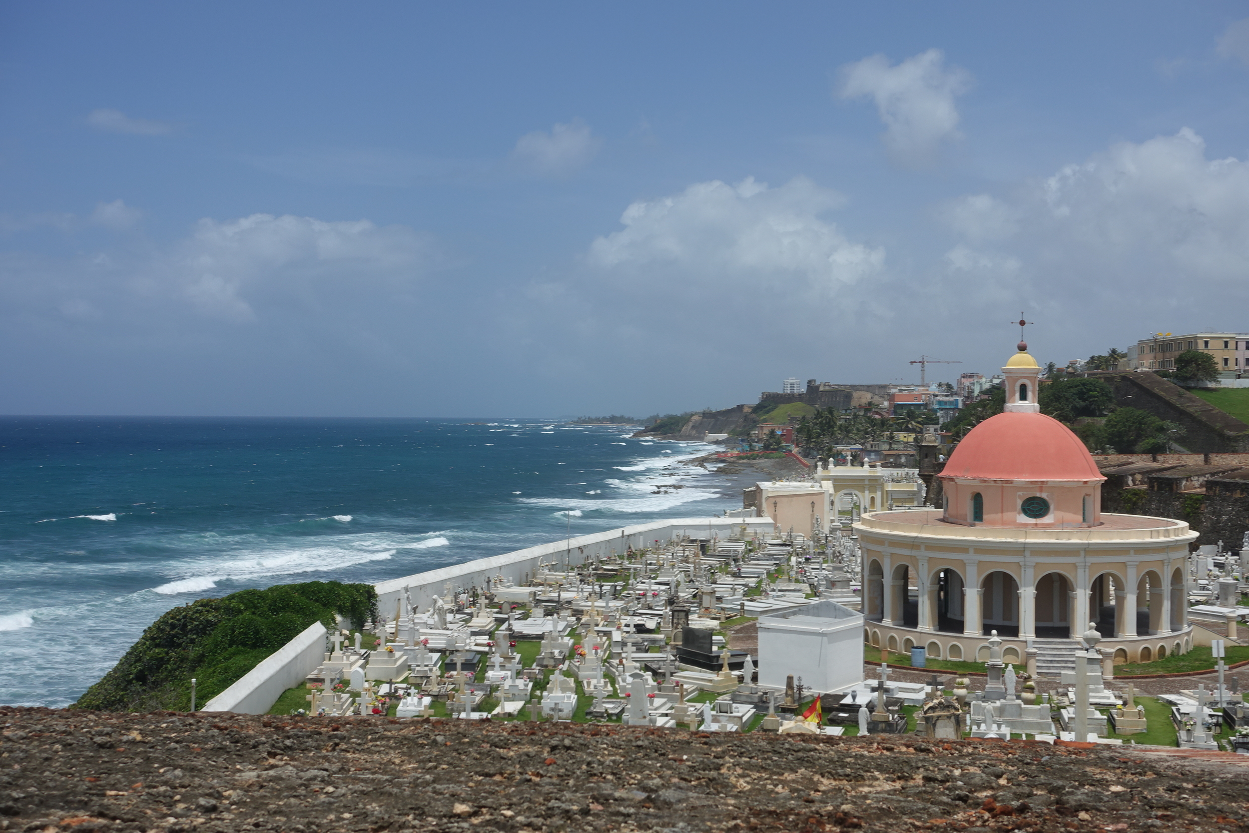 Atlantic coast and cemetery viewed from el morro