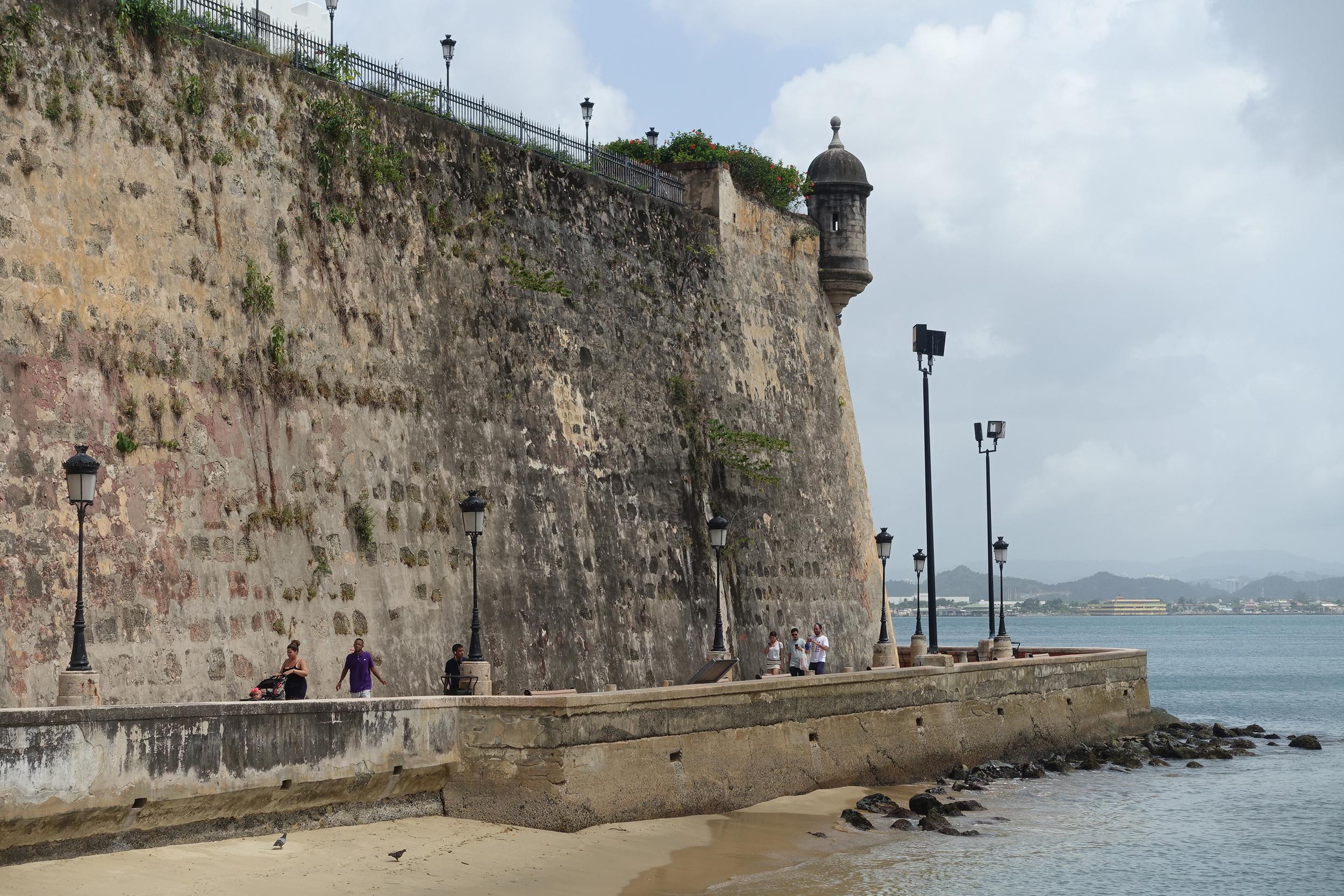 walls of old san juan