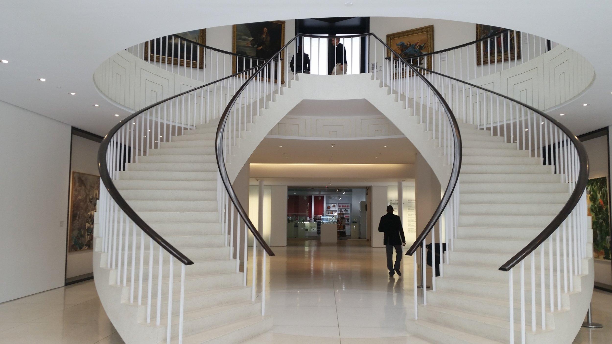 the entrance to the museo de arte